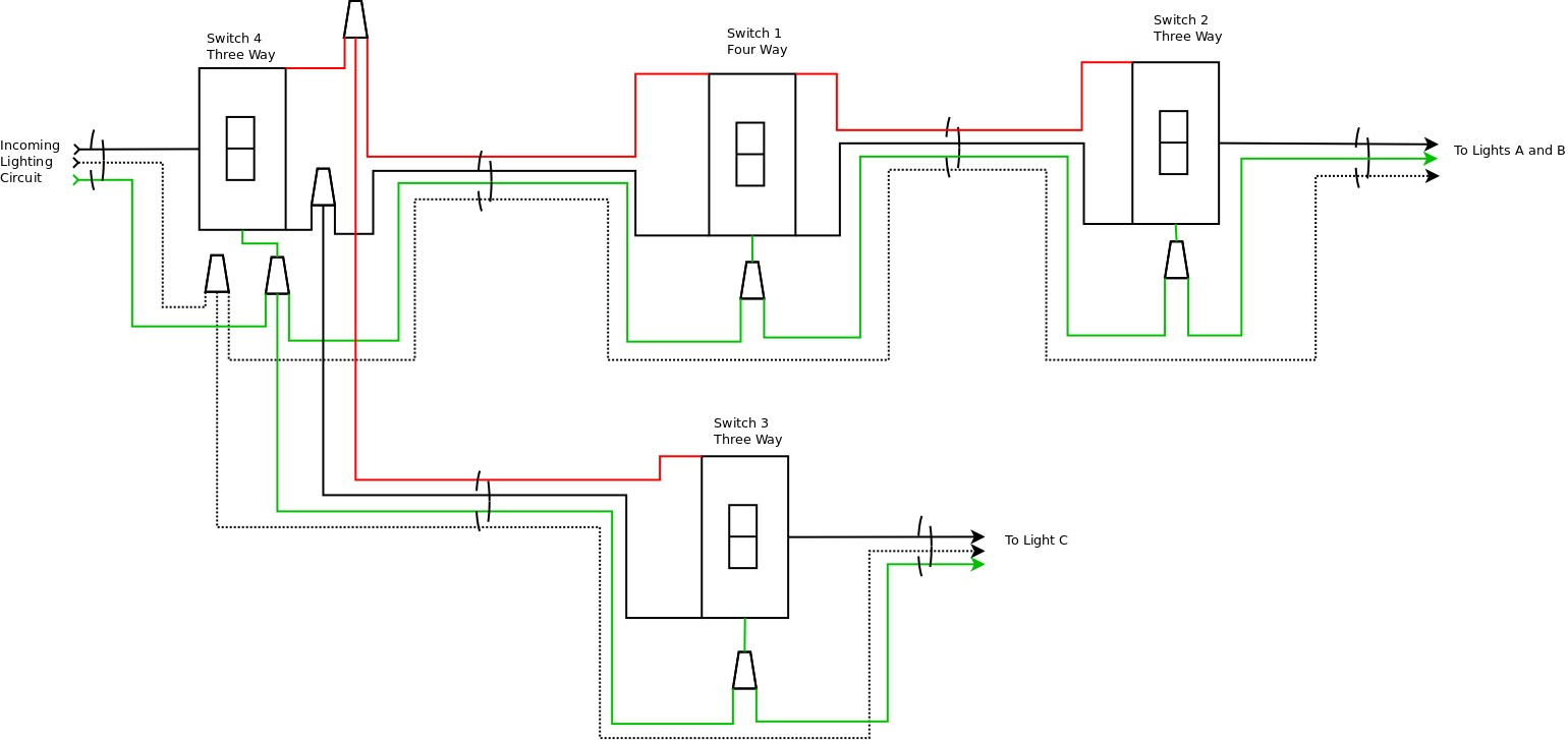 Connecting Multiple Lights to One Switch Awesome | Wiring Diagram Image