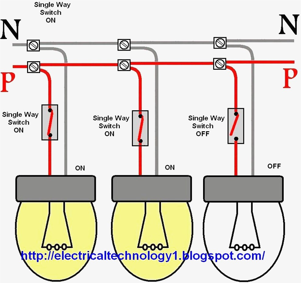 Connecting Multiple Lights To One Switch Awesome Wiring Diagram Image Up A 2 Gang Way Light Great For Two Lamp In Series How Control Incredible