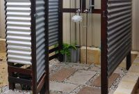 Corrugated Outdoor Shower Awesome Gorgeous 70 Outdoor Shower Ideas