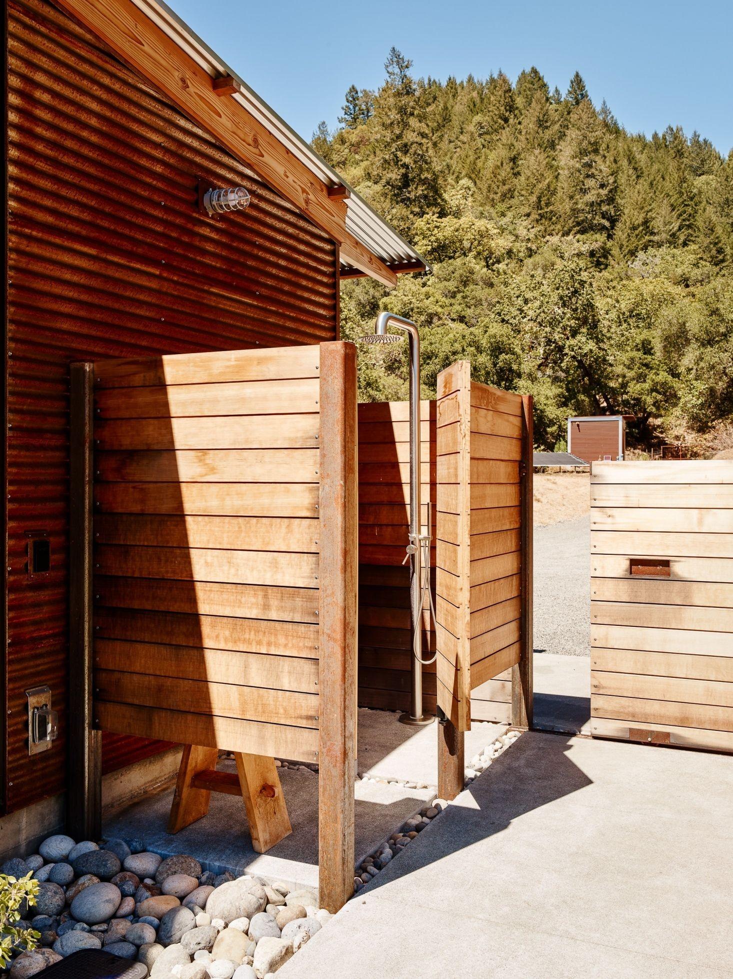 corrugated metal & ipe wood
