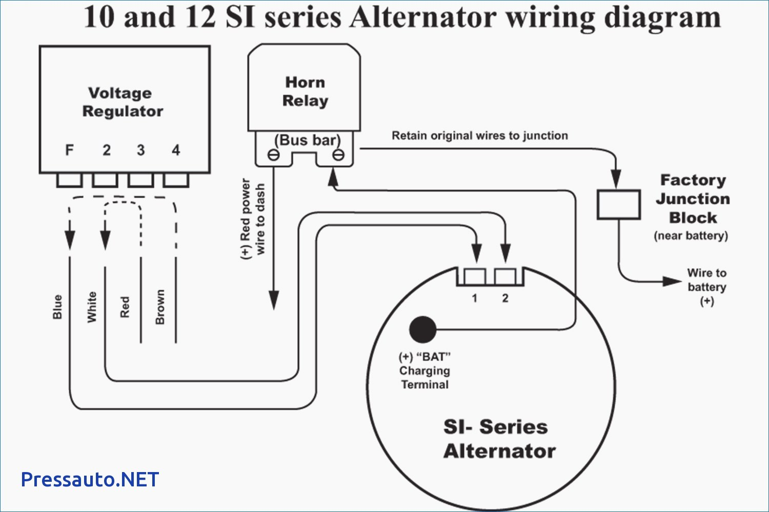 Delco 10si Alternator Wiring Diagram Wiring Diagram Image