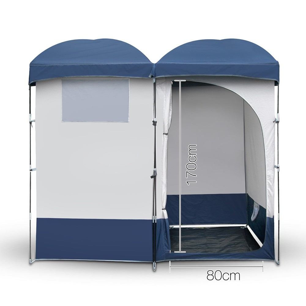 Do It Yourself Outdoor Canopy Unique Double Camping Shower toilet Tent Portable Outdoor Ensuite Change