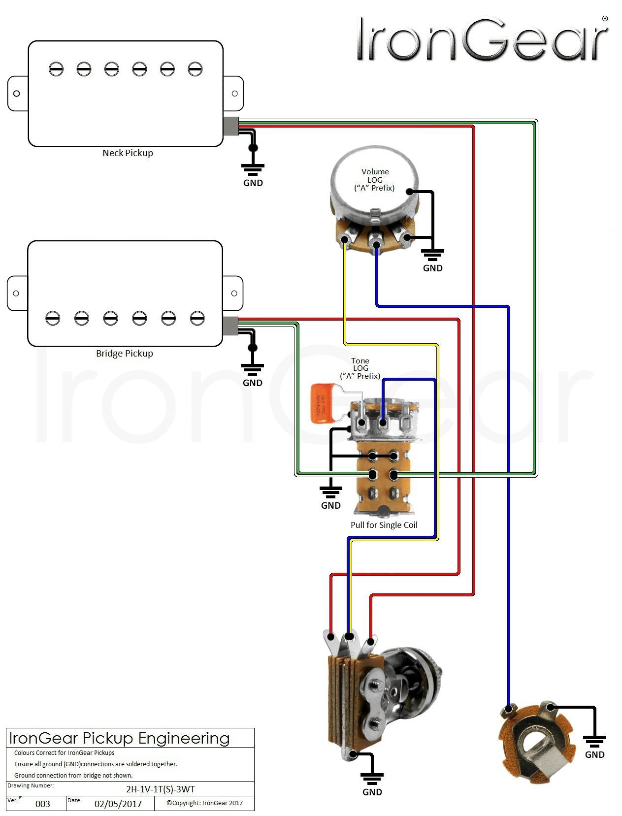 Gallery of Luxury Humbucker Wiring Diagram