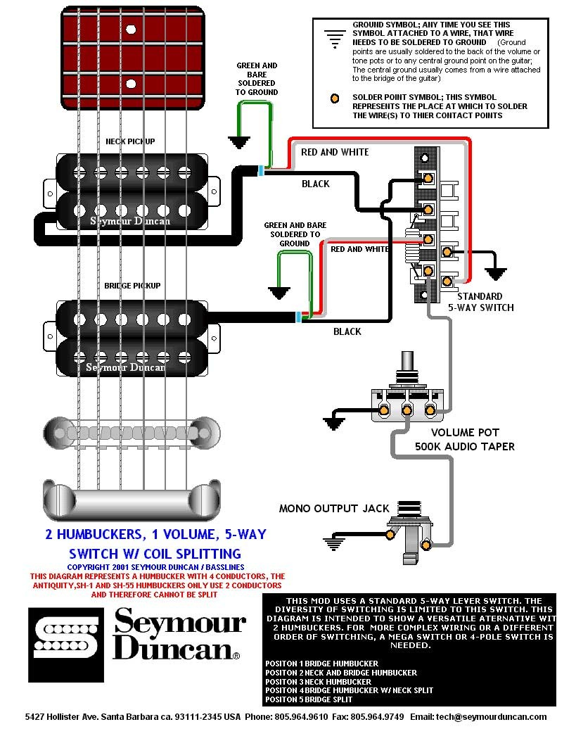Dual Humbucker Wiring Diagram Image Strat The World S Largest Selection Of Free Guitar Diagrams Tele Bass And More