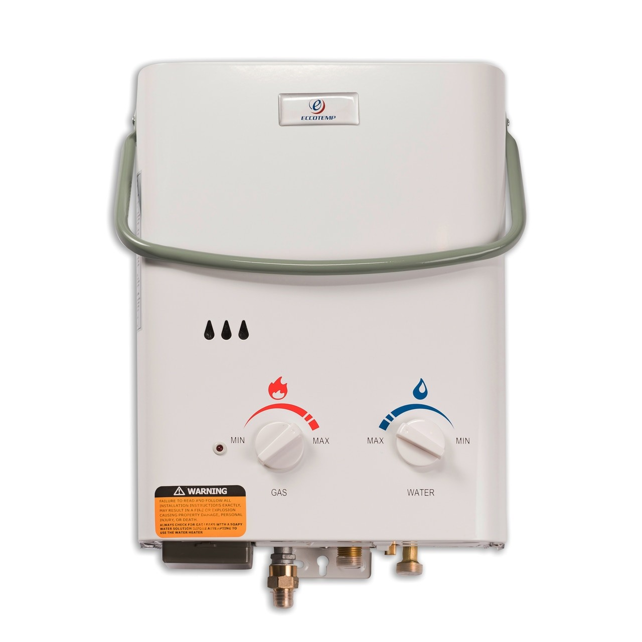 Eccotemp L5 Portable Tankless Water Heater Front View to enlarge