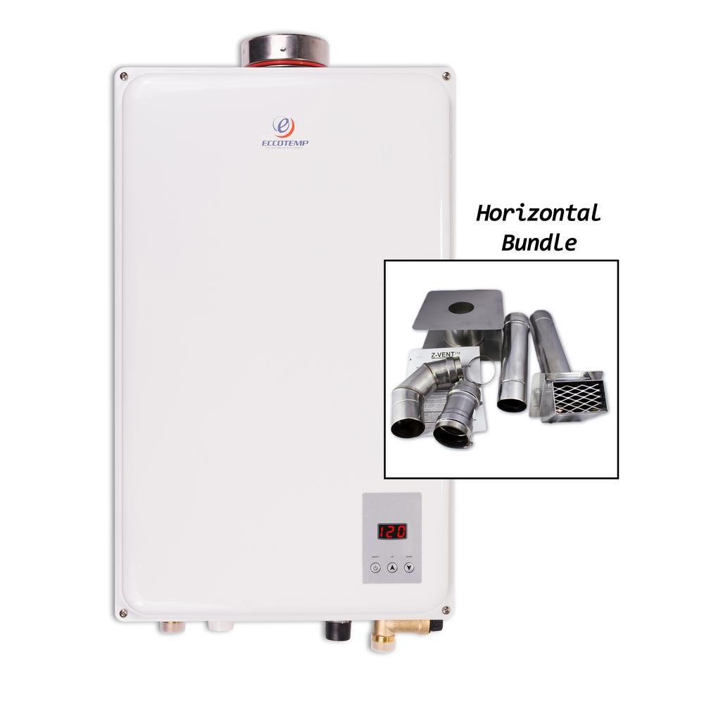 45HI NG Natural Gas Tankless Water Heater Horizontal Bundle