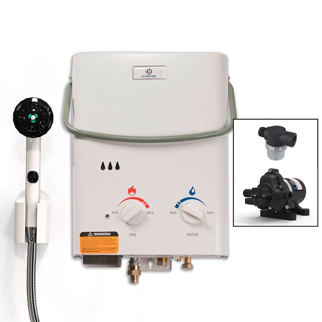 Amazon Eccotemp L5 Tankless Water Heater w EccoFlo Pump & Strainer Sports & Outdoors