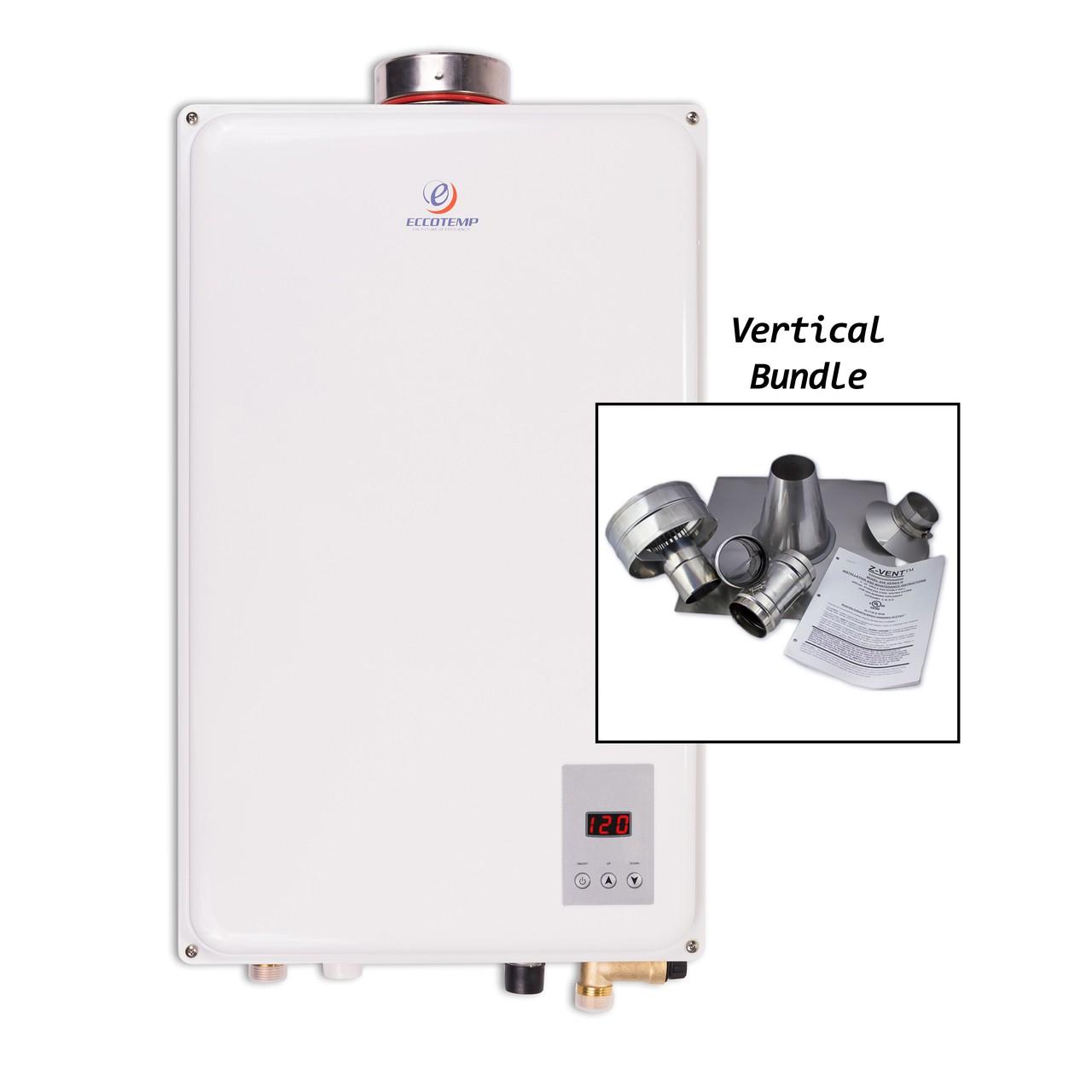 Eccotemp 45HI NG Vertical Vent Bundle Tankless water heater