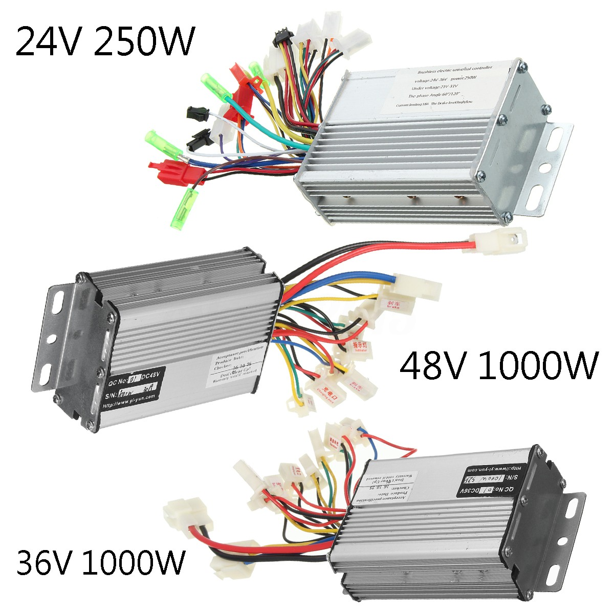 24V 36V 48V 250W 1000W Electric Scooter Speed Controller Motor For Bike  Bicycle