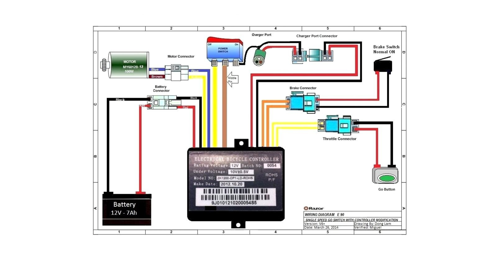 Generous Chinese Electric Scooter Wiring Diagram Amazing
