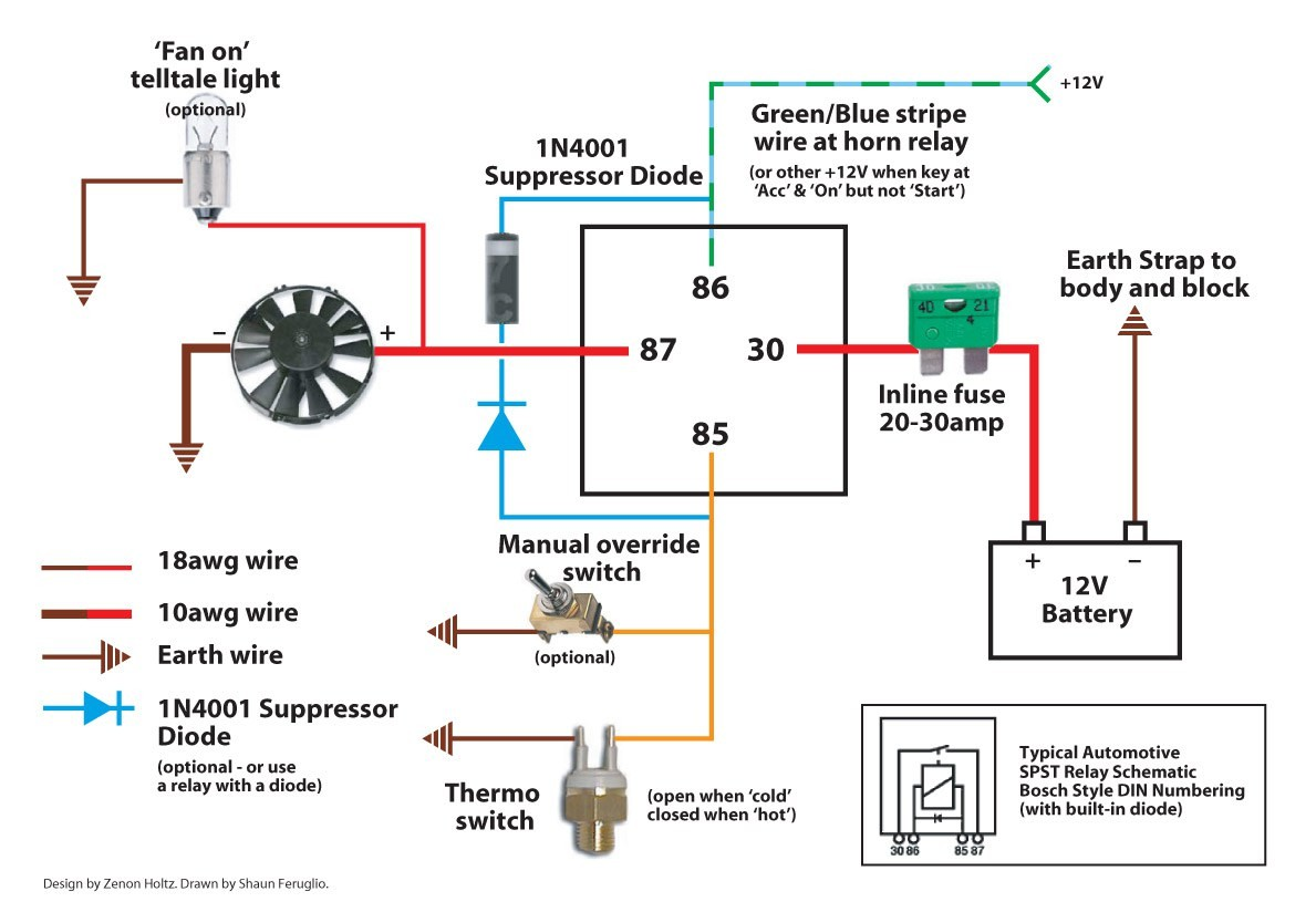 Electric Fan Relay Wiring Diagram 0