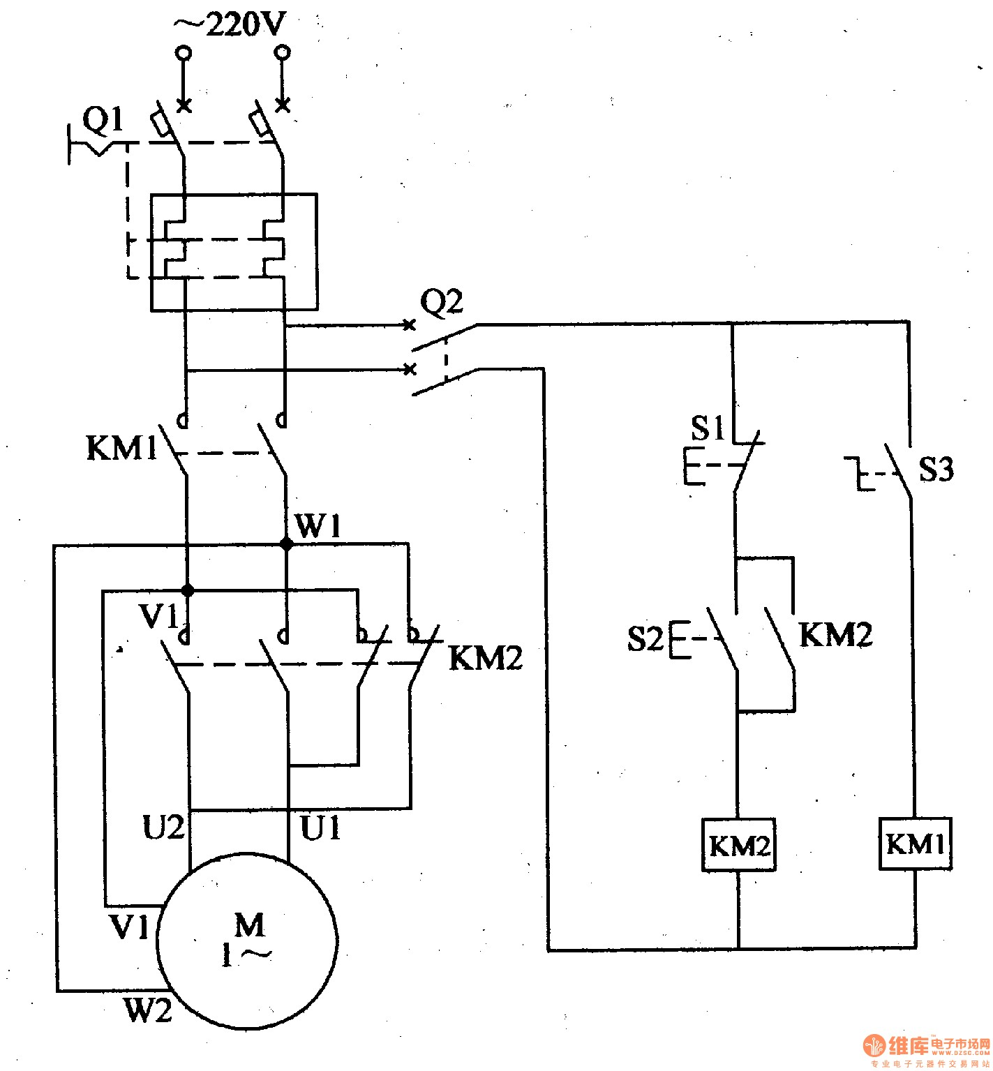 Electric Motor Wiring Diagram Circuit Single Phase ponent Control Controlled Automotive Speed Full Size Starter