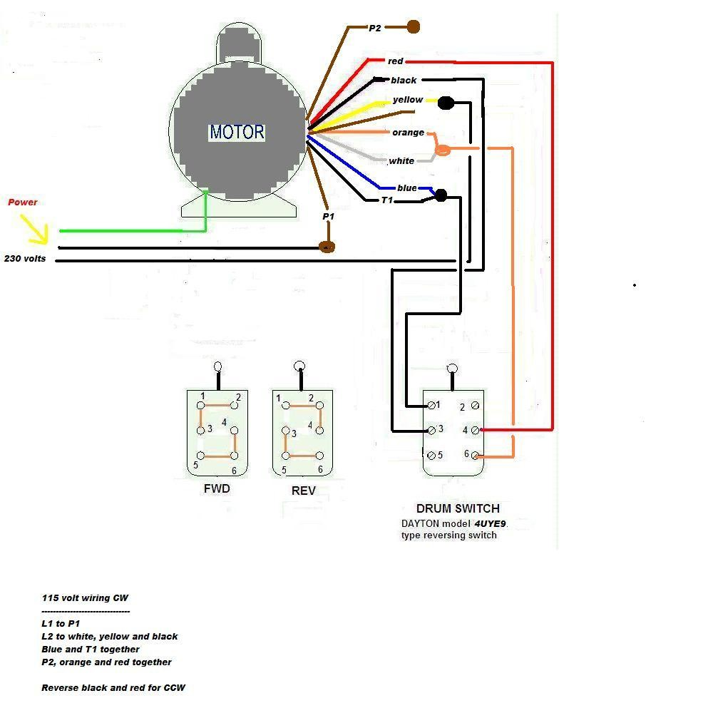 Electric Motor Wiring Diagram Single Phase Starter Century Volts Best For And Ac General Start
