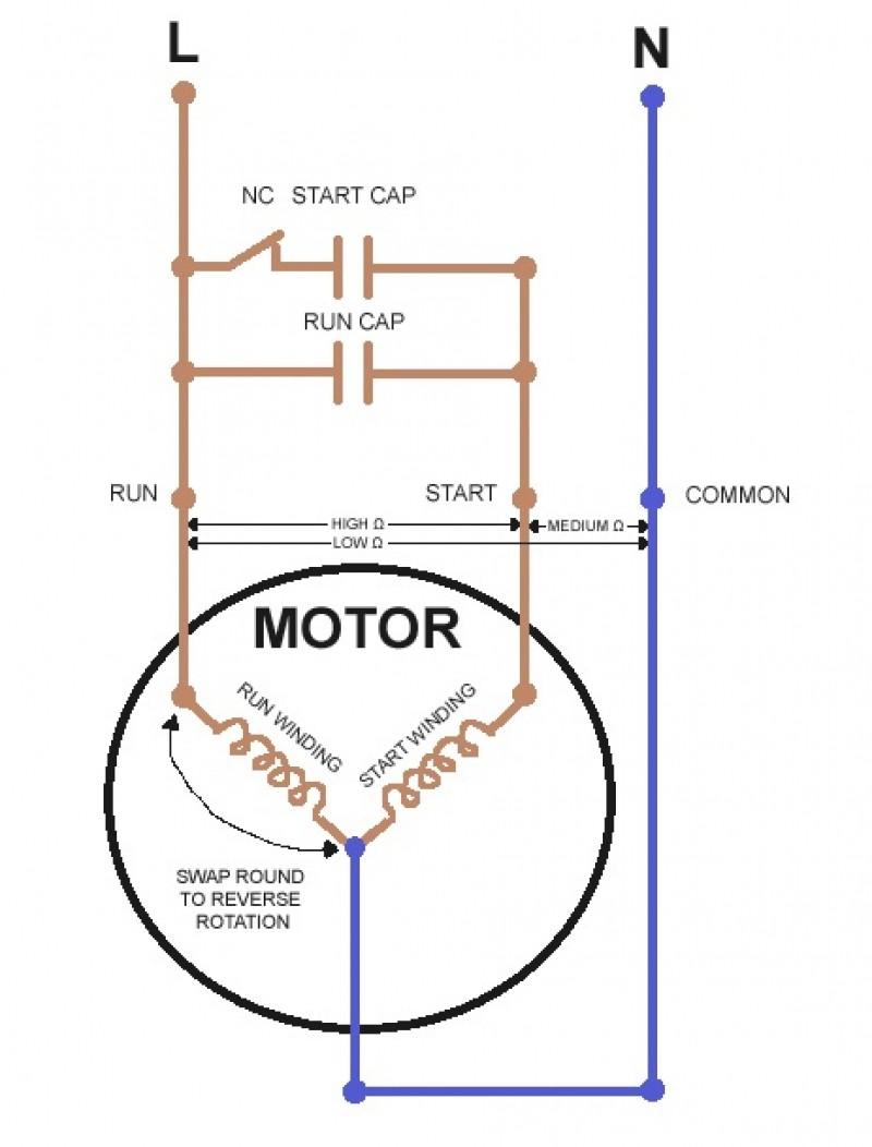 Ac Motor Capacitor Wiring Diagram Ac Fan Motor Capacitor Wiring