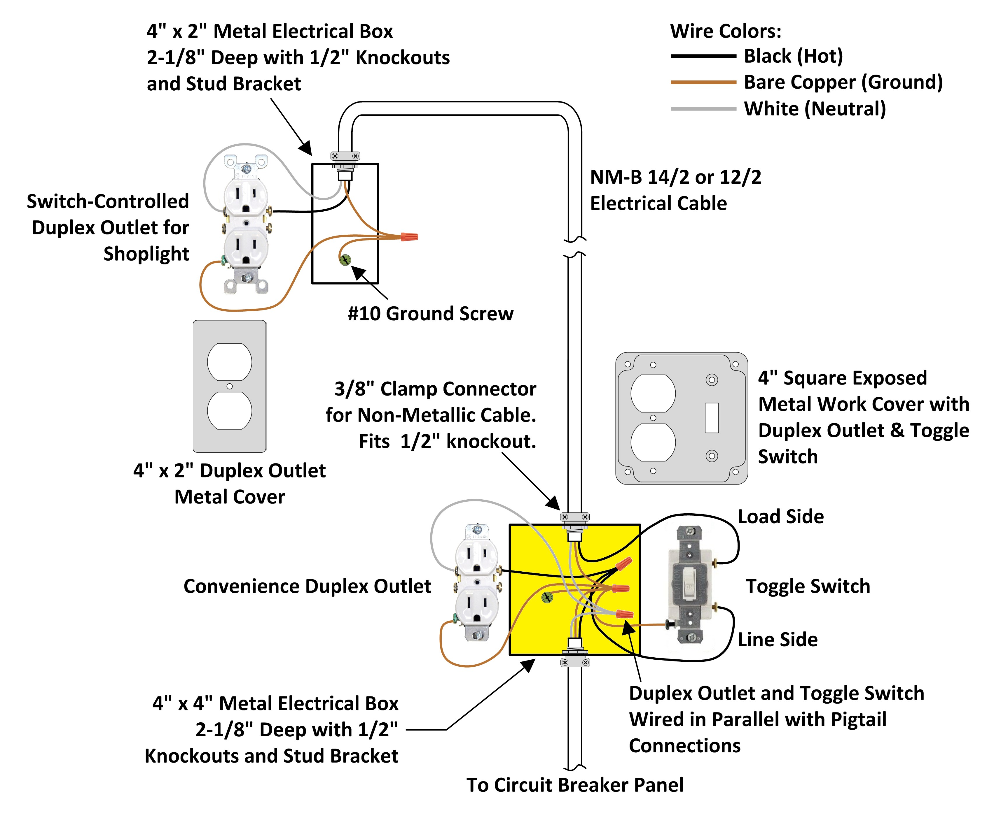 Electrical Light Wiring Diagram With Switch Junction Box And Exposed Work Auto Repair Symbols Physical Layout