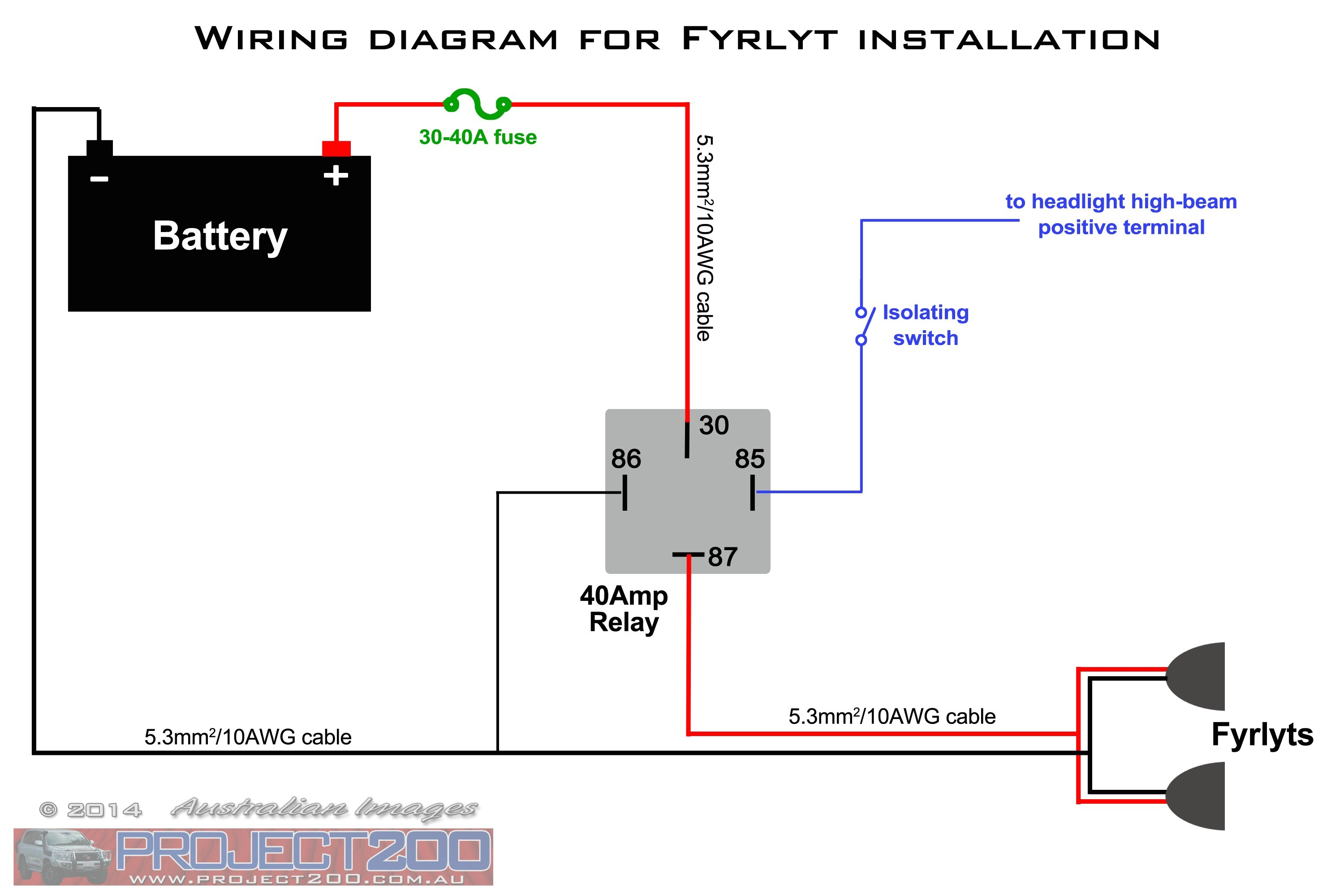 Diagram Electrical Light Wiring With Switch To How Wire Narva Spotlight Relay Bar Free