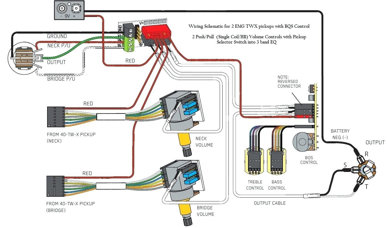 Full Size of Emg 81 85 Wiring Diagram 2 Volume 1 Tone Active Pickup Electrical Schematic