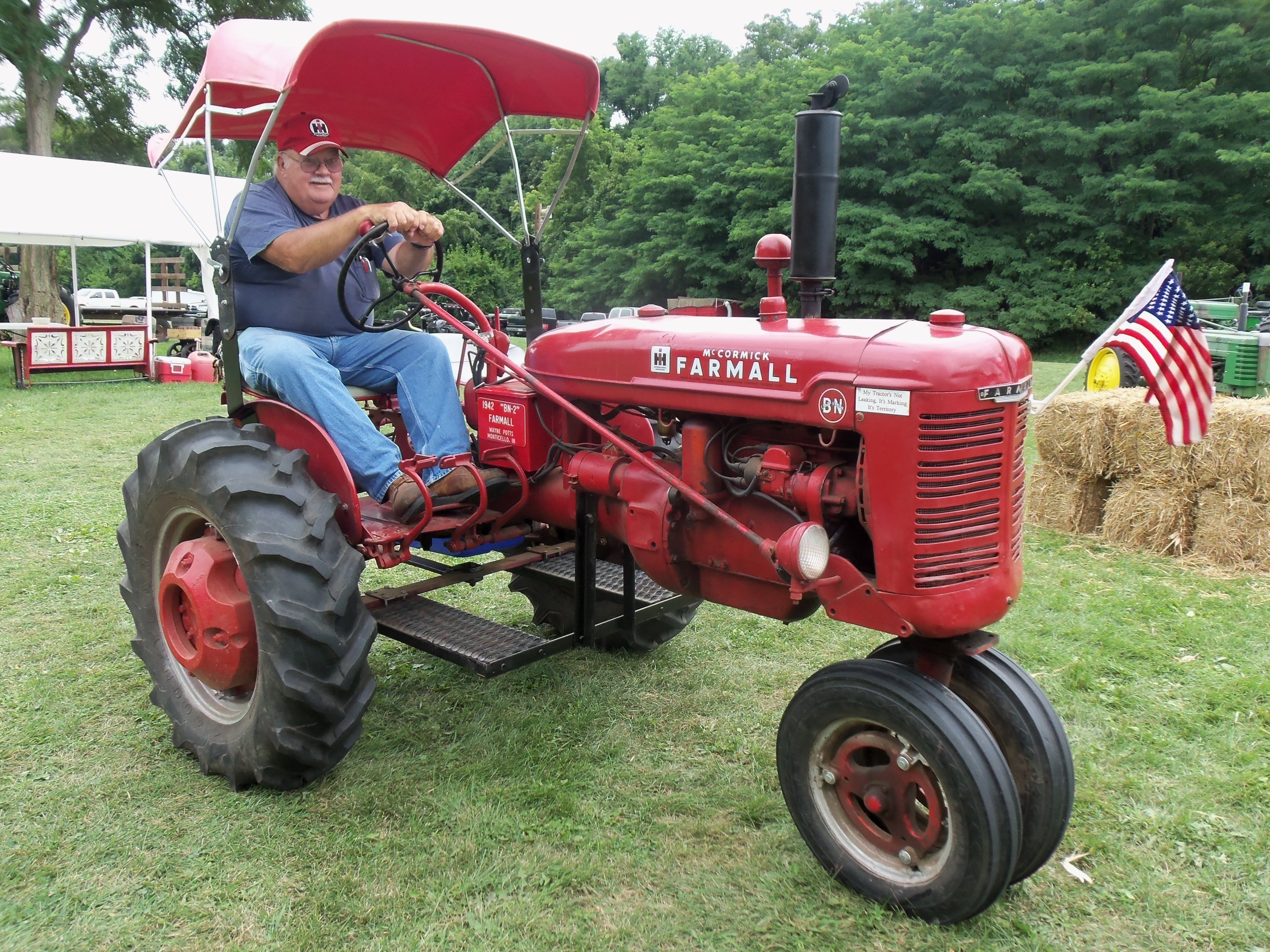 1942 Farmall BN This tractor I think was from Monticello