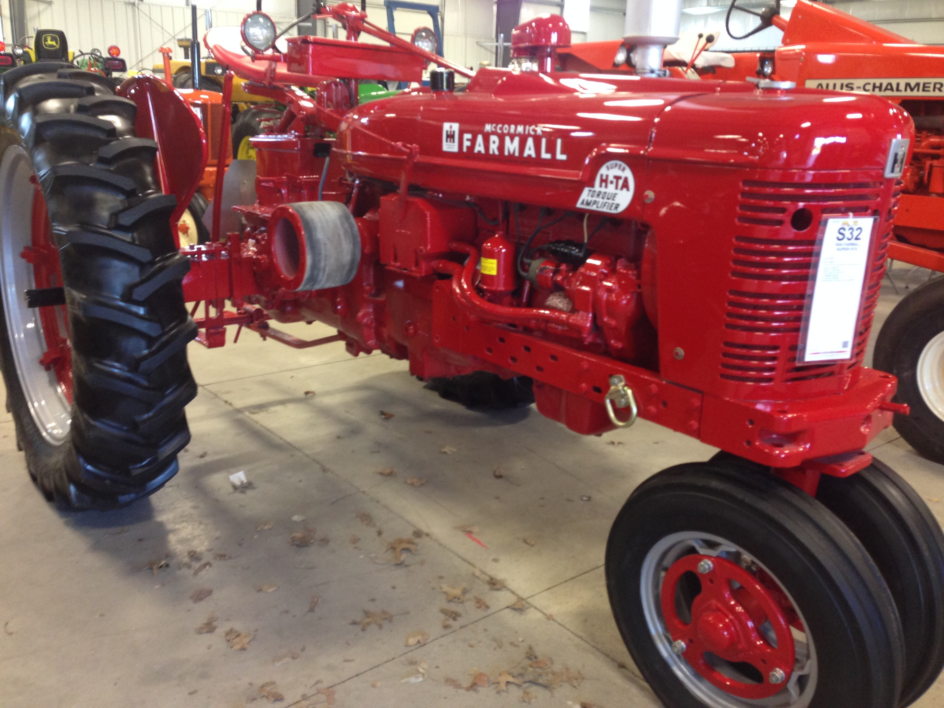 He s also built a Farmall Super HD TA tractor which was a pilation of a Farmall Super H 350 sel engine and 300 rear end