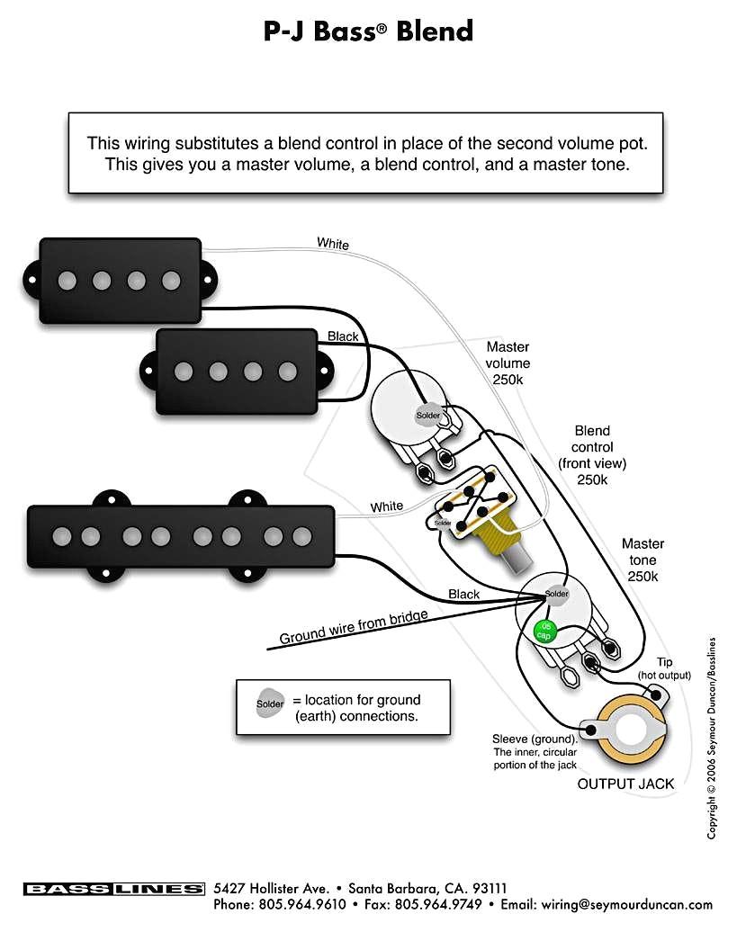 Wiring Diagram Pj Bass - Electrical Wiring Diagram •