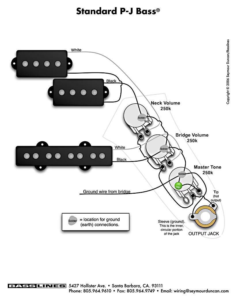 Wiring Diagram Fender P Bass