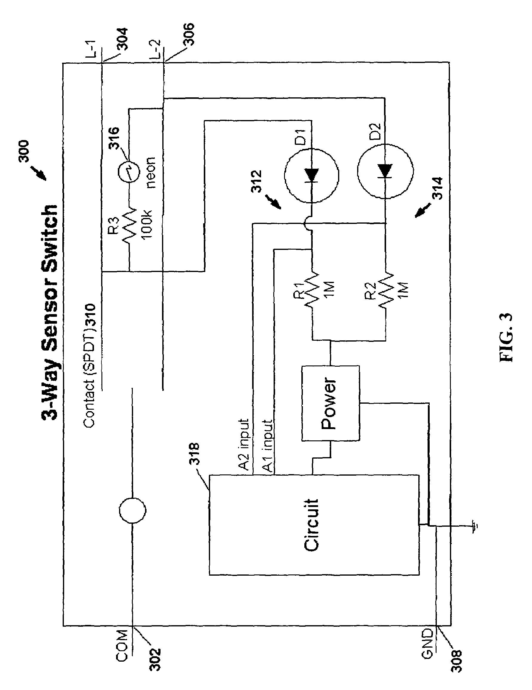 Patent US Motion Sensor Switch For 3 Way Light Circuit Pleasing Wiring Diagram