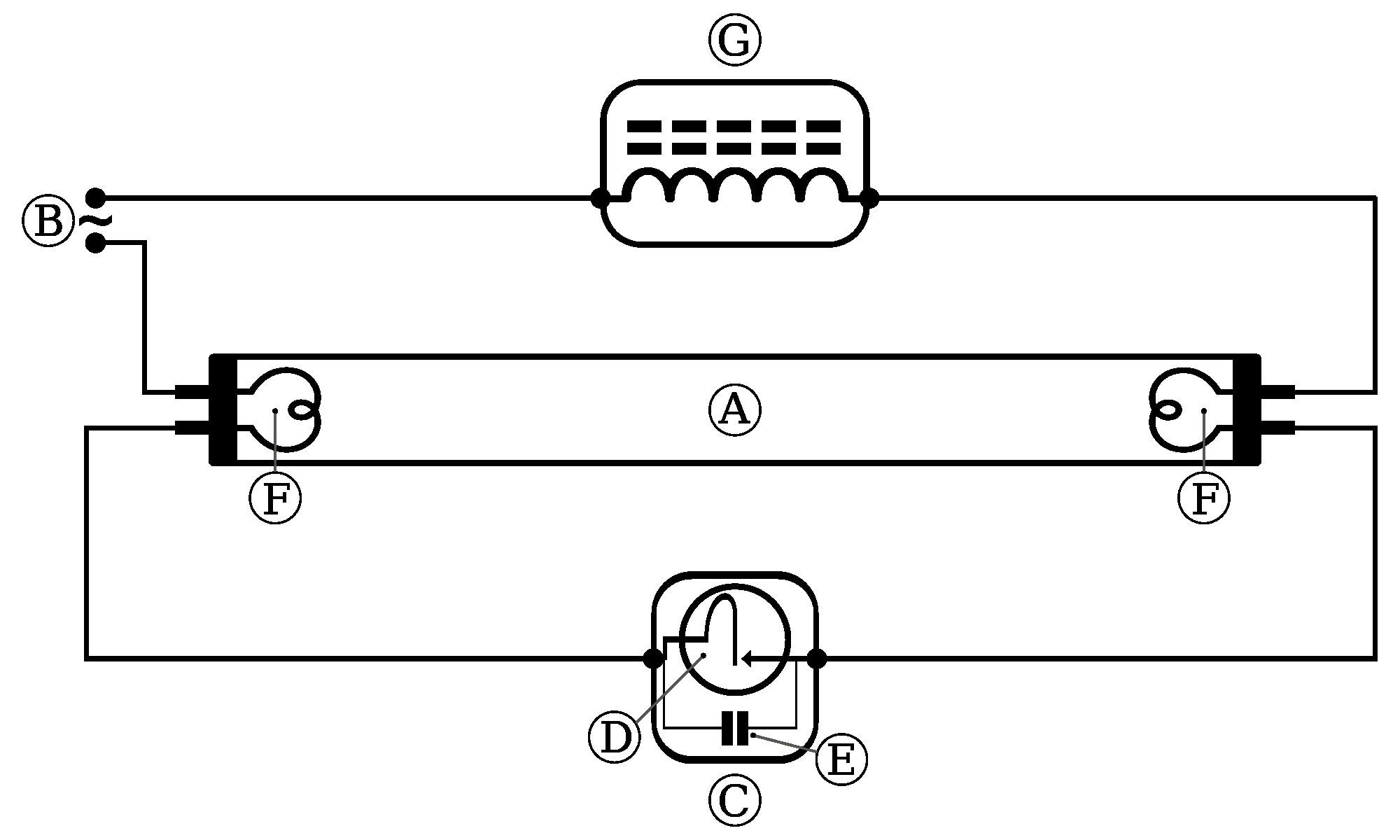 Fluorescent Lamp Wiring Diagram Bright Bulb