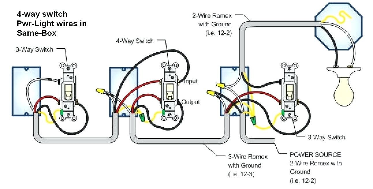 Four Pole Light Switch Wiring Diagram Schematic Diagrams 4 Way Unique Image Two