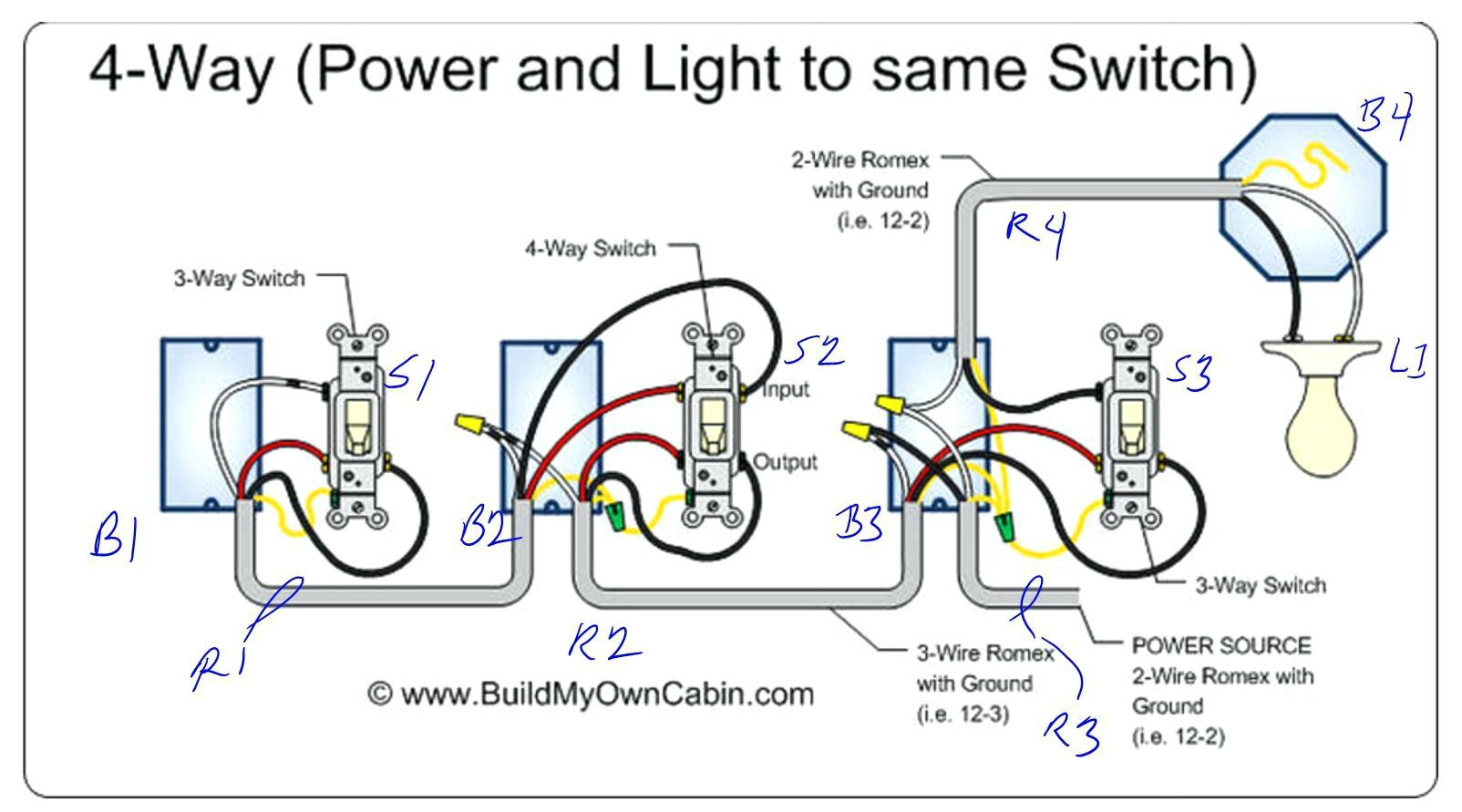 4 Way Switch Wiring Diagram 220 - DIY Wiring Diagrams •
