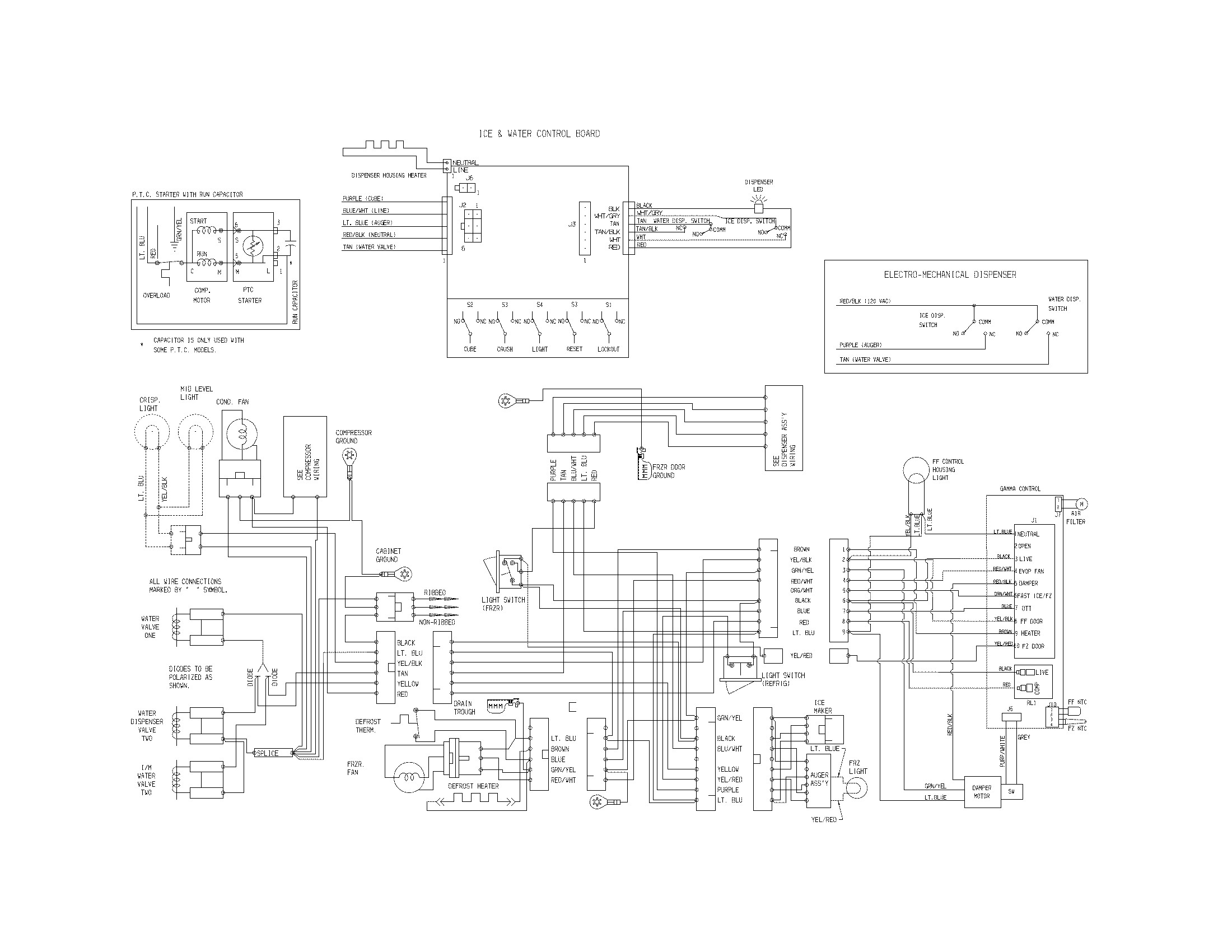 frigidaire refrigerator wiring diagram unique