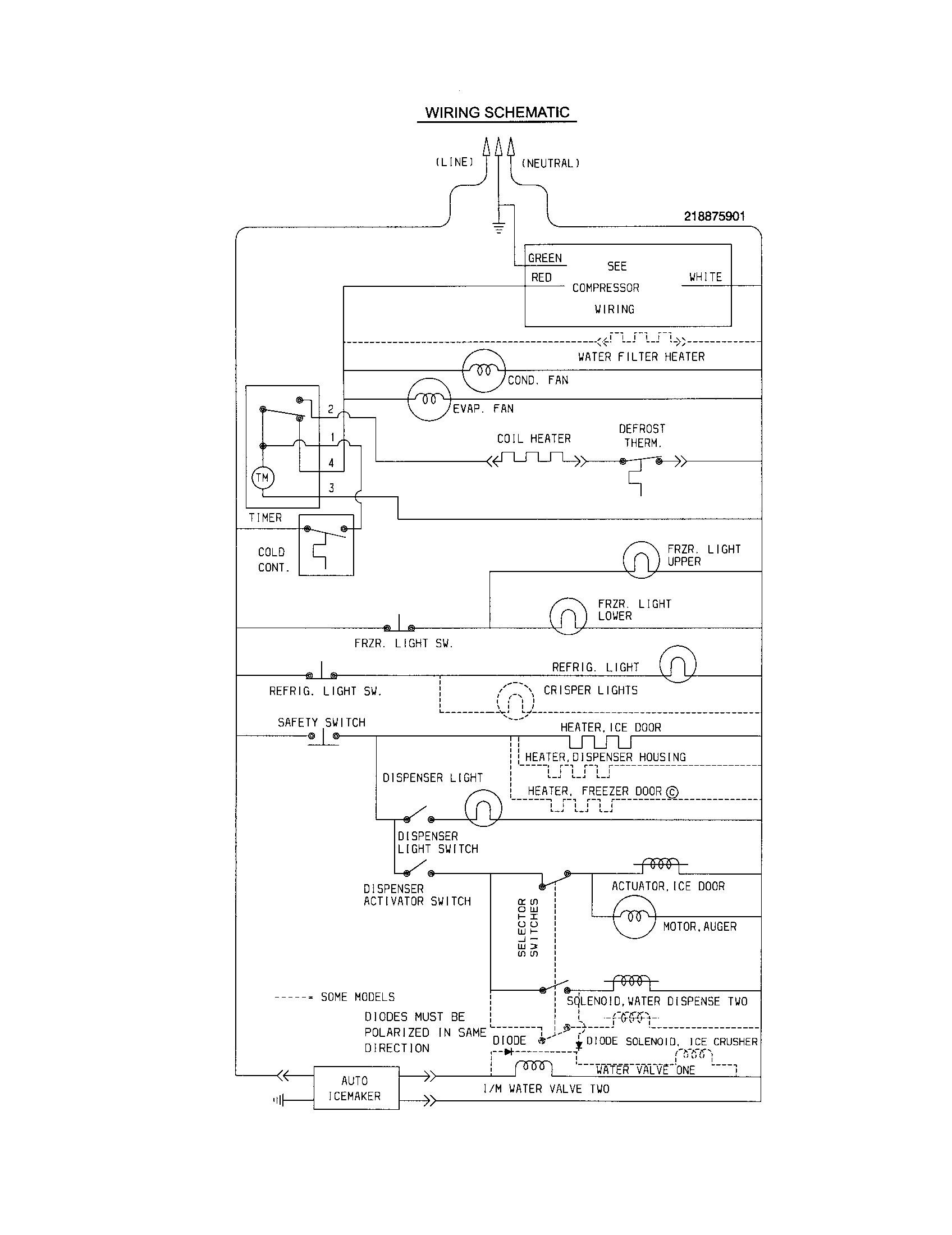 refrigerator wiring diagram besides frigidaire refrigerator wiring rh hashtravel co Frigidaire Dishwasher Wiring Frigidaire Dishwasher Wiring