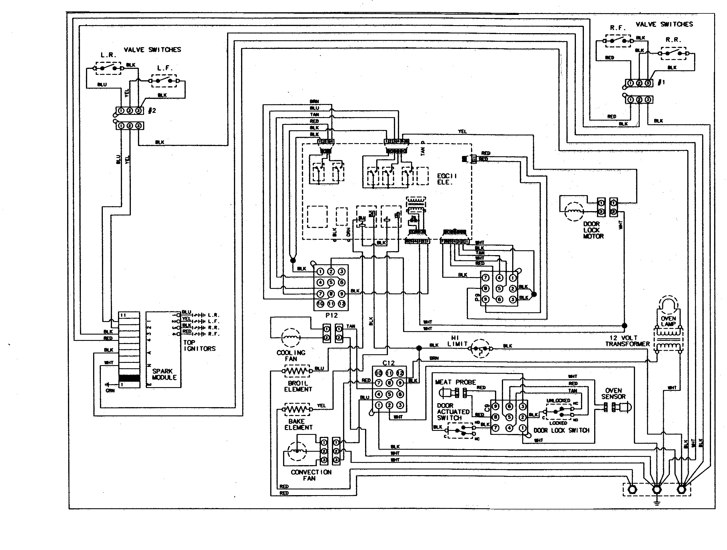 Ge Stove Wiring Diagram Experts Toaster Oven Switch On Schematic Diagrams For Microwave Image