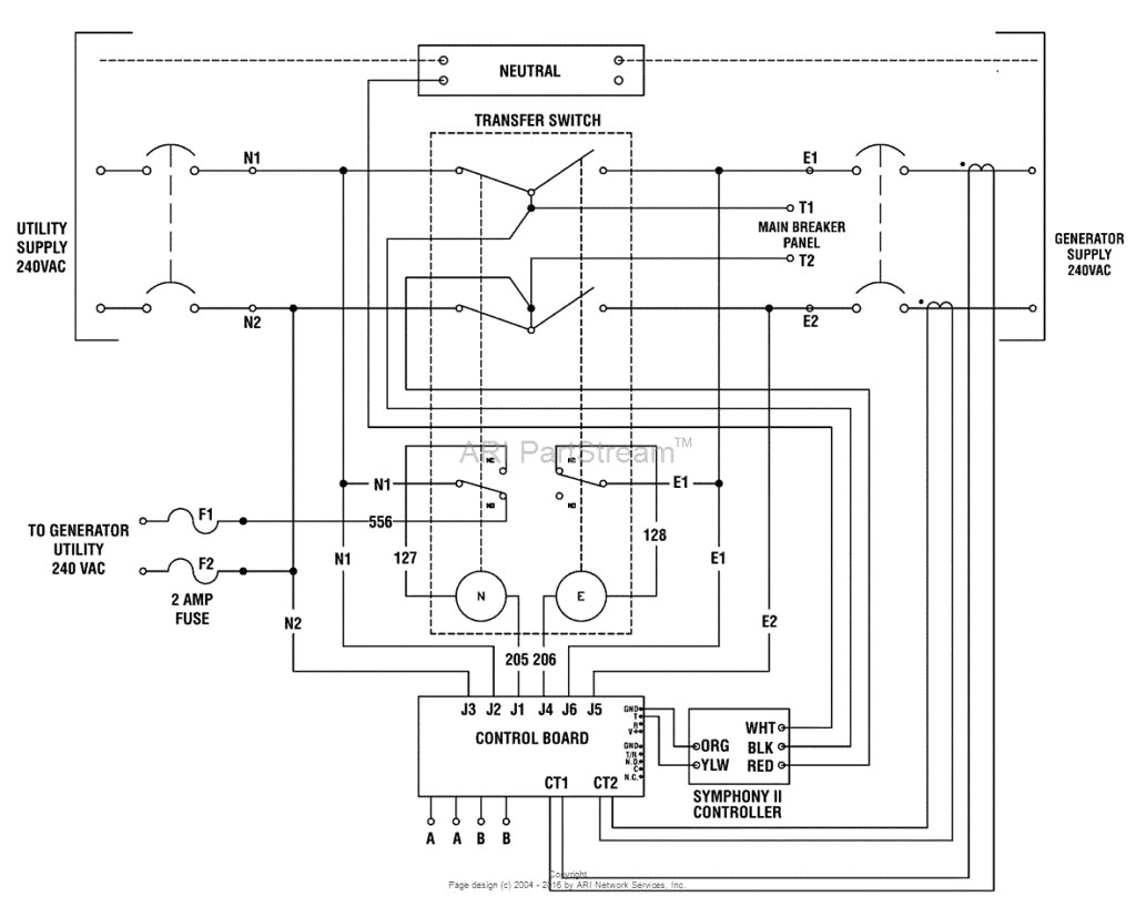 Generac Transfer Switch Wiring Diagram Gif Throughout Generator With In Automatic