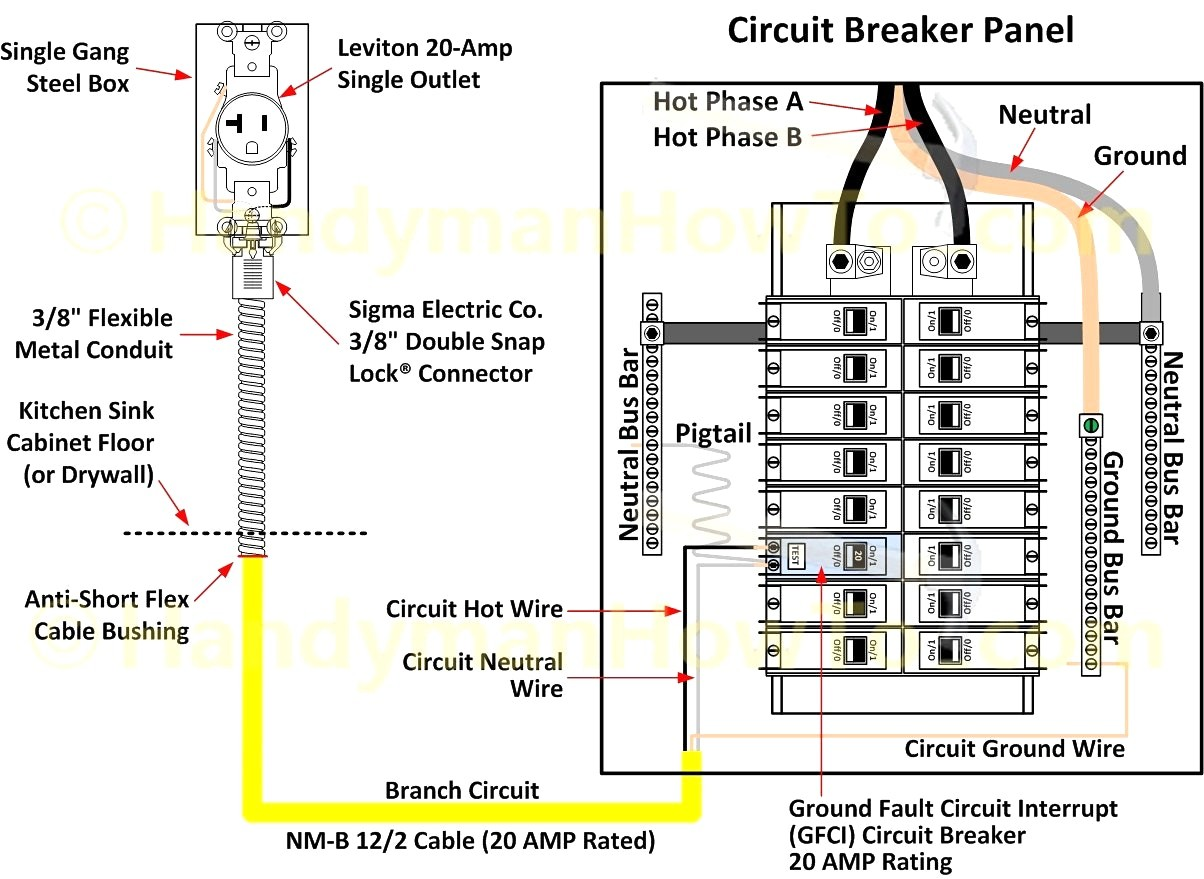 Gfci Circuit Breaker Wiring Diagram Best Of   Wiring Diagram Image