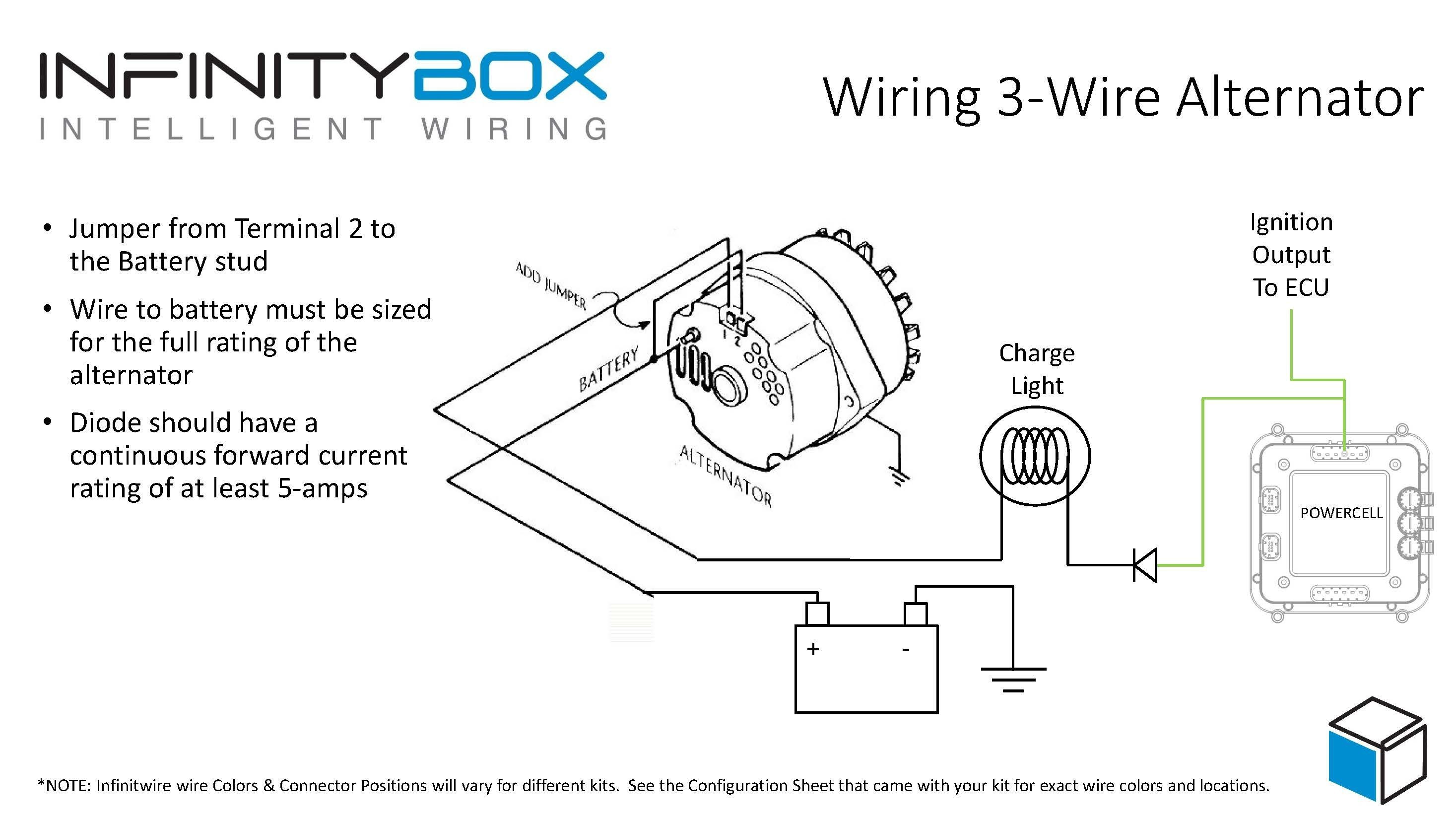 Alternator Wiring Diagram W Terminal Copy 3 Wire Alternator • Infinitybox
