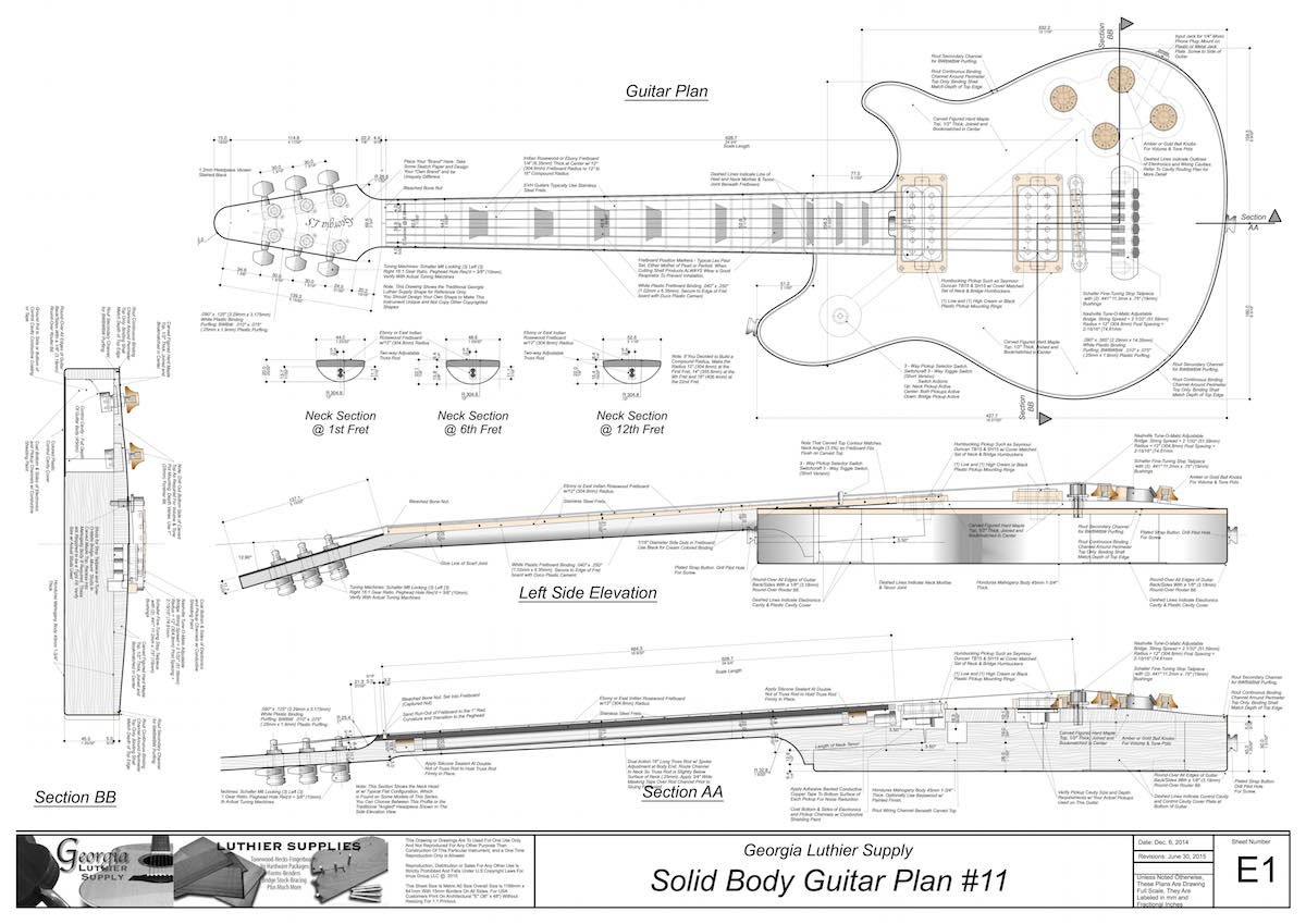 Solid Body Electric Guitar Plans 11 Electronic Version
