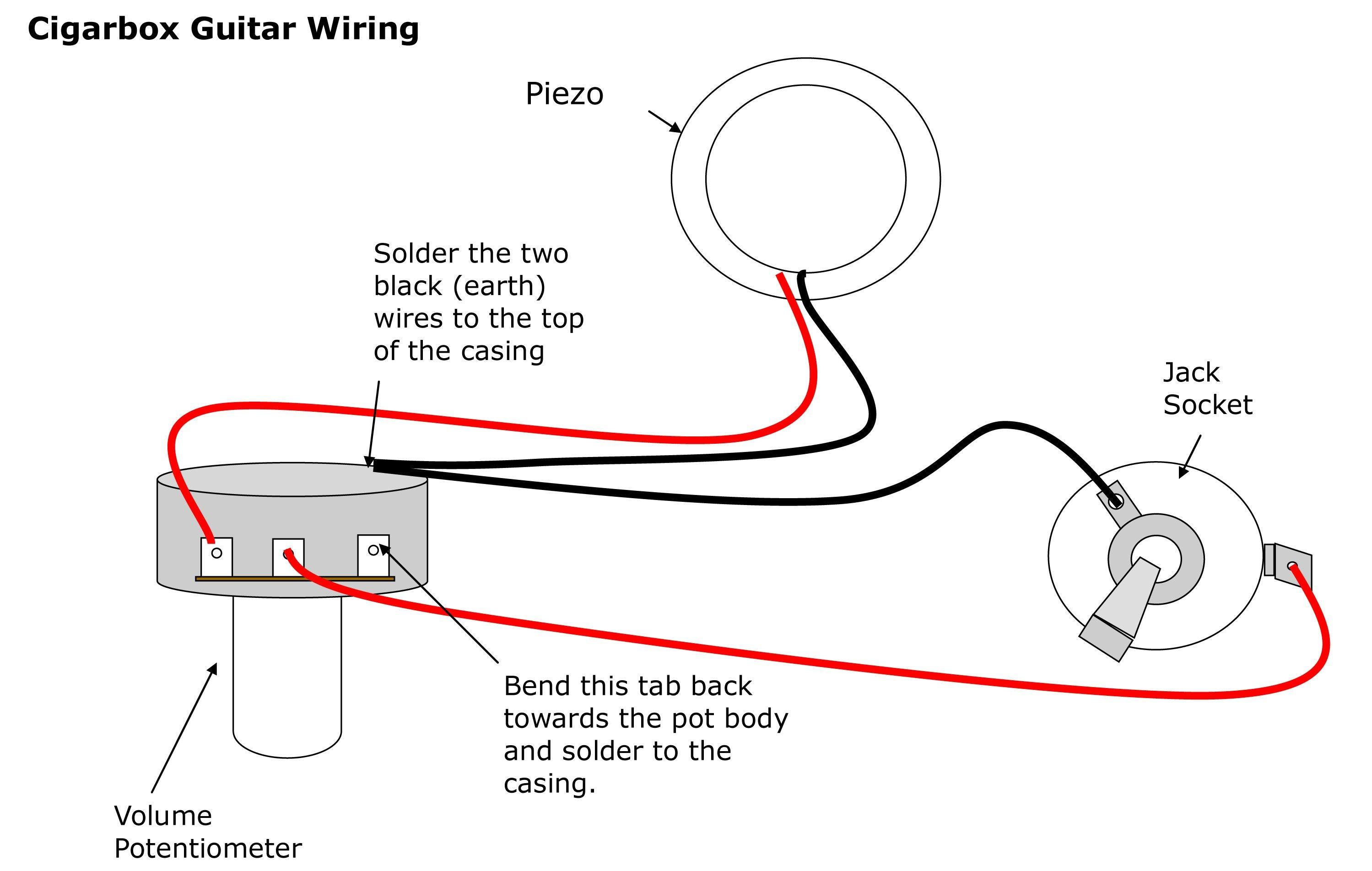 Wiring single piezo with volume control