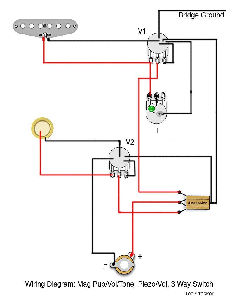 Piezo Guitar Jack Wiring Diagram Electrical Endpin Car Fuse Box U2022 Les Paul