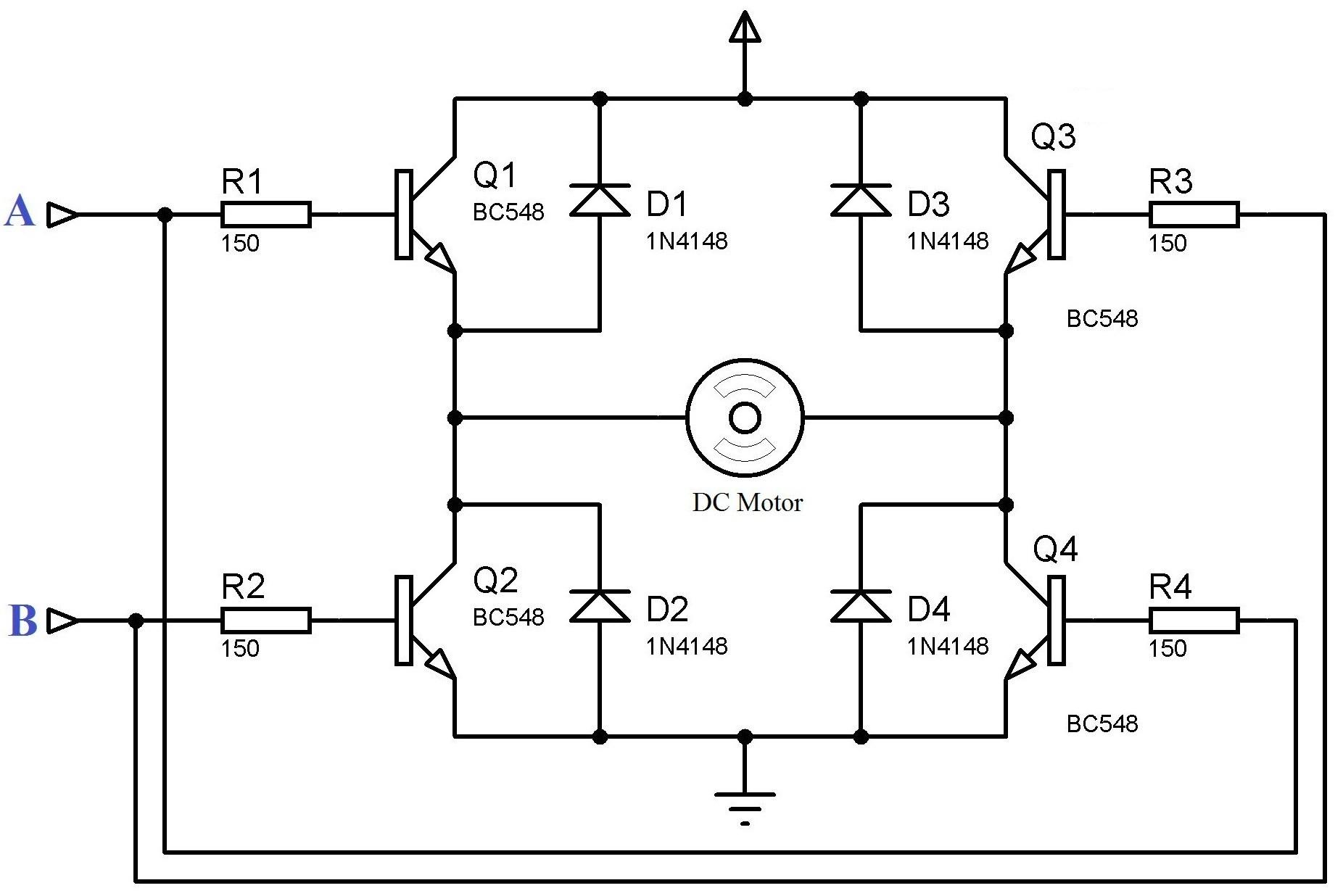 Dc Motor Driving Using H Bridge Jpg arduino breadboard schematic range sensor arduino