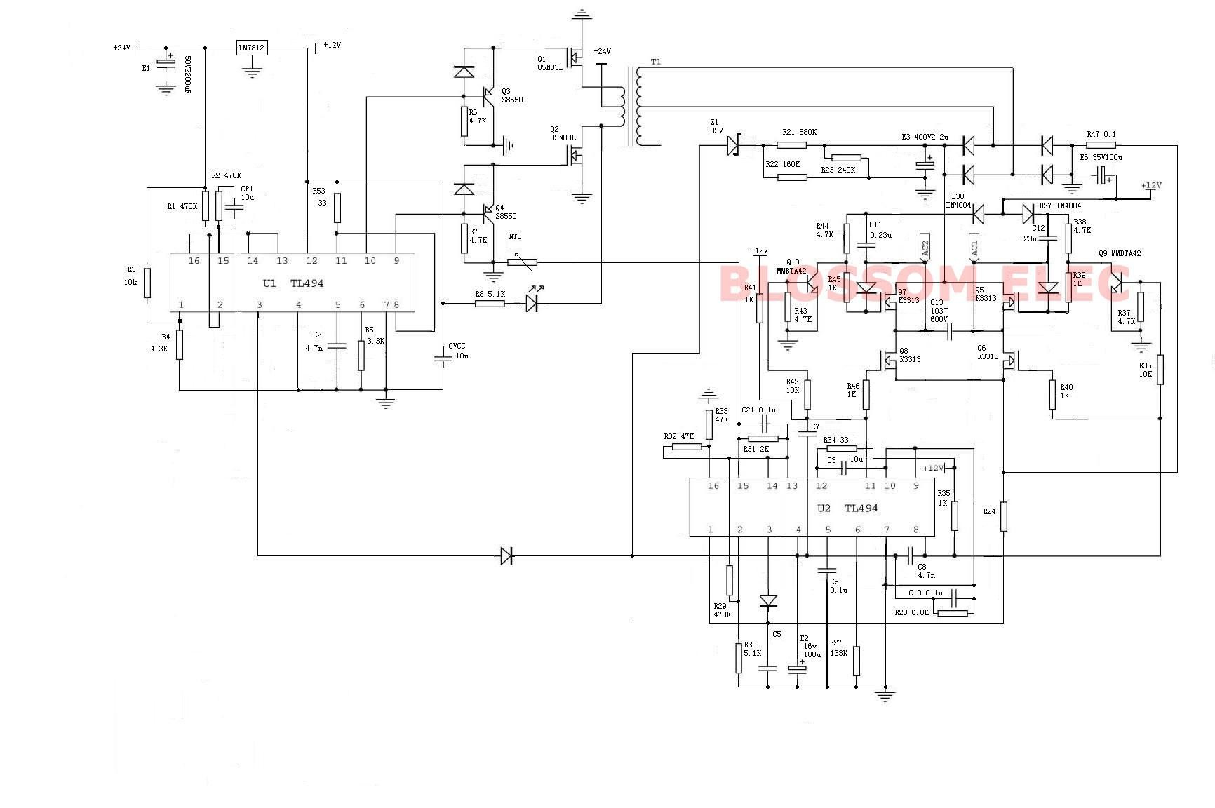 Solved Dc To Ac Inverter H Bridge Heres e With Tl494 If Youre Interested control Mechanical Electrical