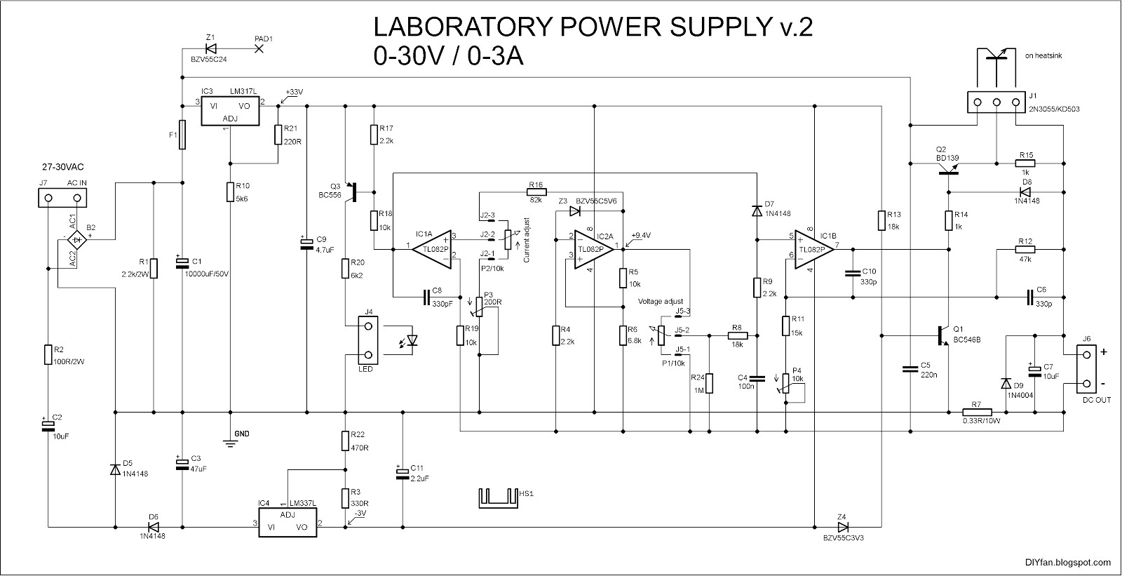 ponent Diyfan Adjustable Lab Power Supply Take Two Variable Voltage Using Lm317 Elenco Pc Amazon High Hp Dc 100 Kv Circuit Kit Low Ac Atx Diagram New