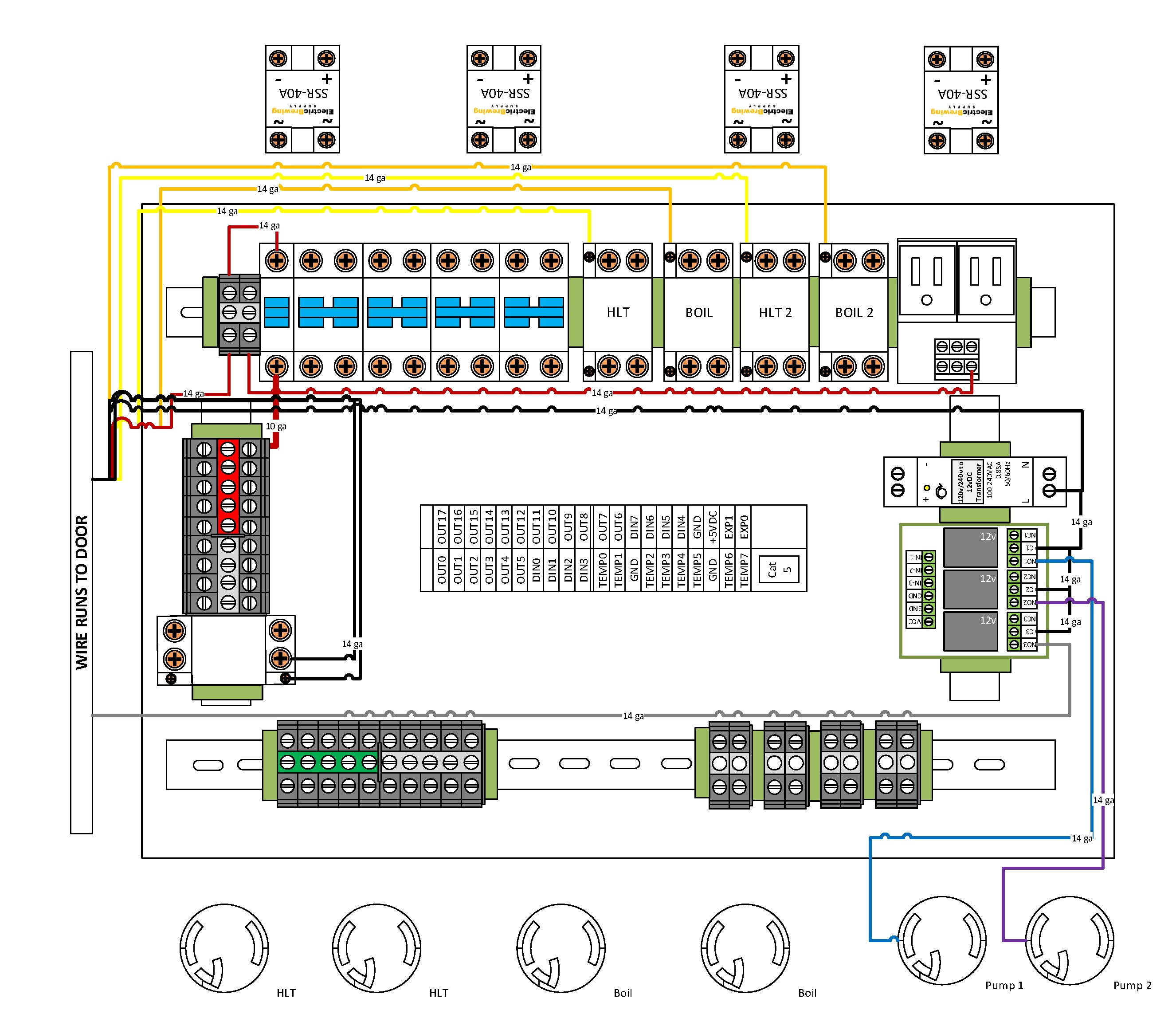 Electric Brewery Wiring Diagramontrol Panel 4 Element plete Page 1 Bcs Gen2 Diagram Wires Electrical Circuit