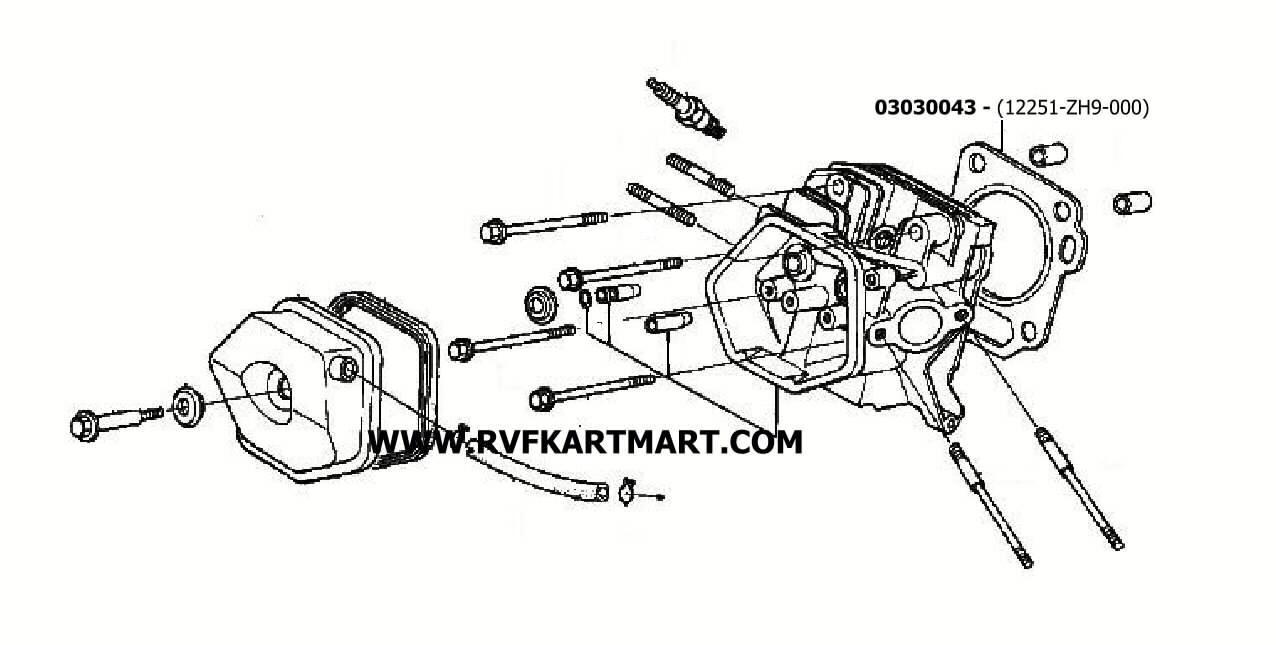 GASKET CYLINDER HEAD HONDA GX270UT