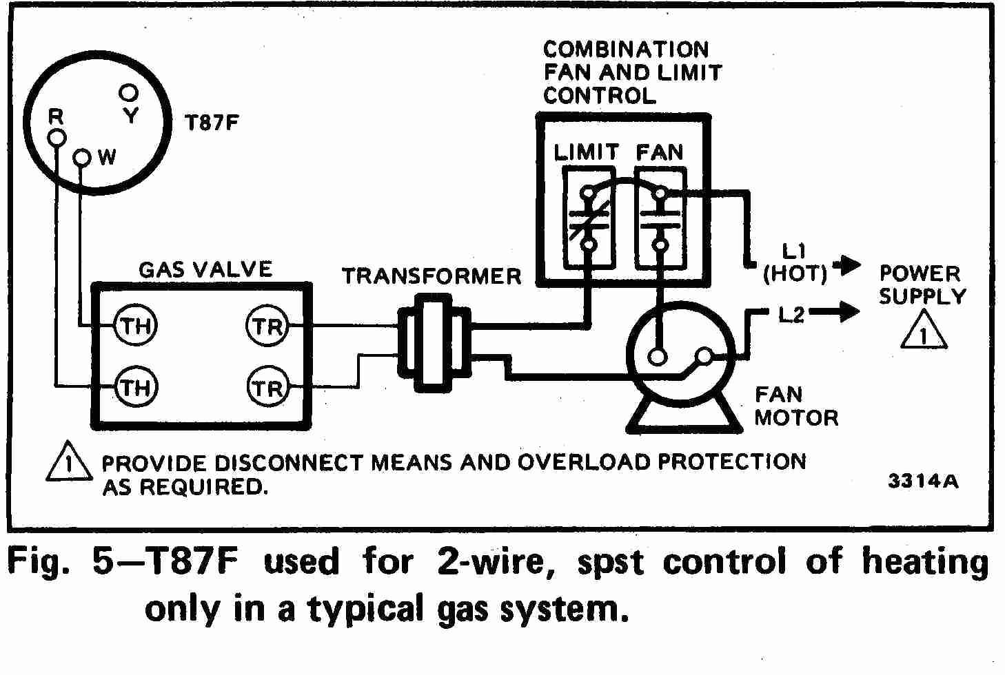 Honeywell    thermostat    Wiring    Diagram    2 Wire   Wiring    Diagram    Image