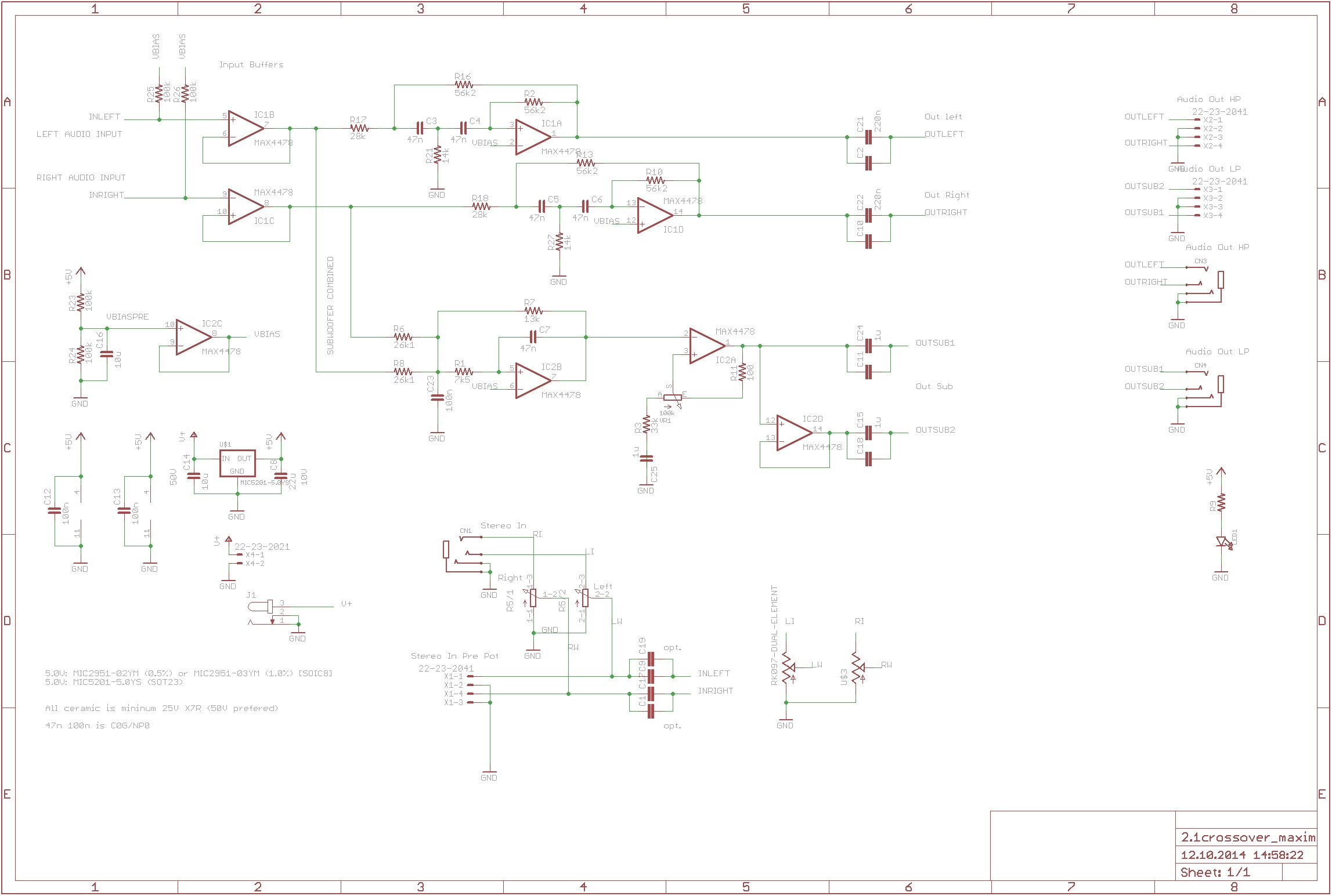 Aktive Crossoverfrequenzweiche Mit Max4478 360customs Crossover Schematic Rev 0d 555 pin diagram industrial electrical