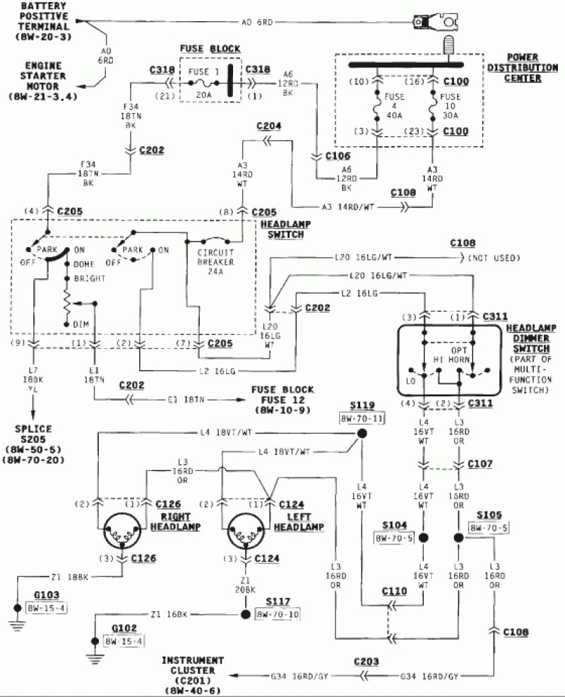 Jeep Wrangler Tj Tail Light Wiring Diagram
