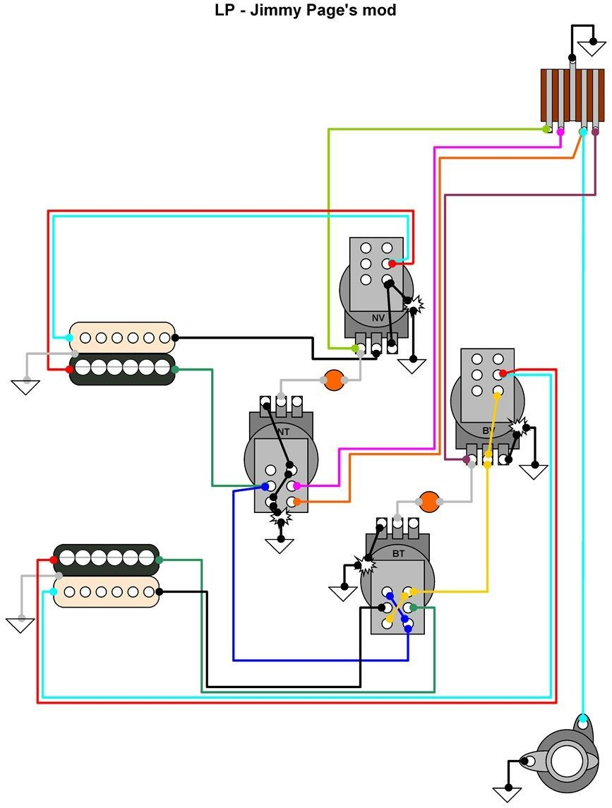 Gibson Jimmy Page Wiring Diagram Wiring Diagrams Schematics