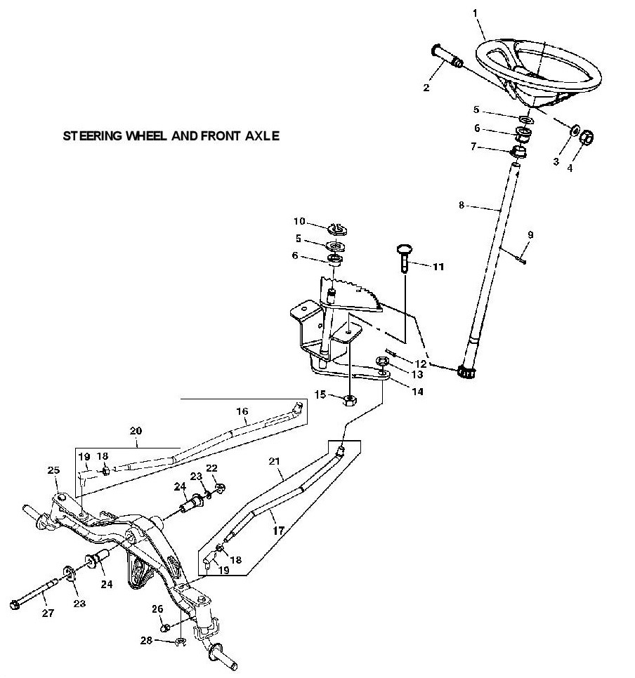 john deere lt155 diagram