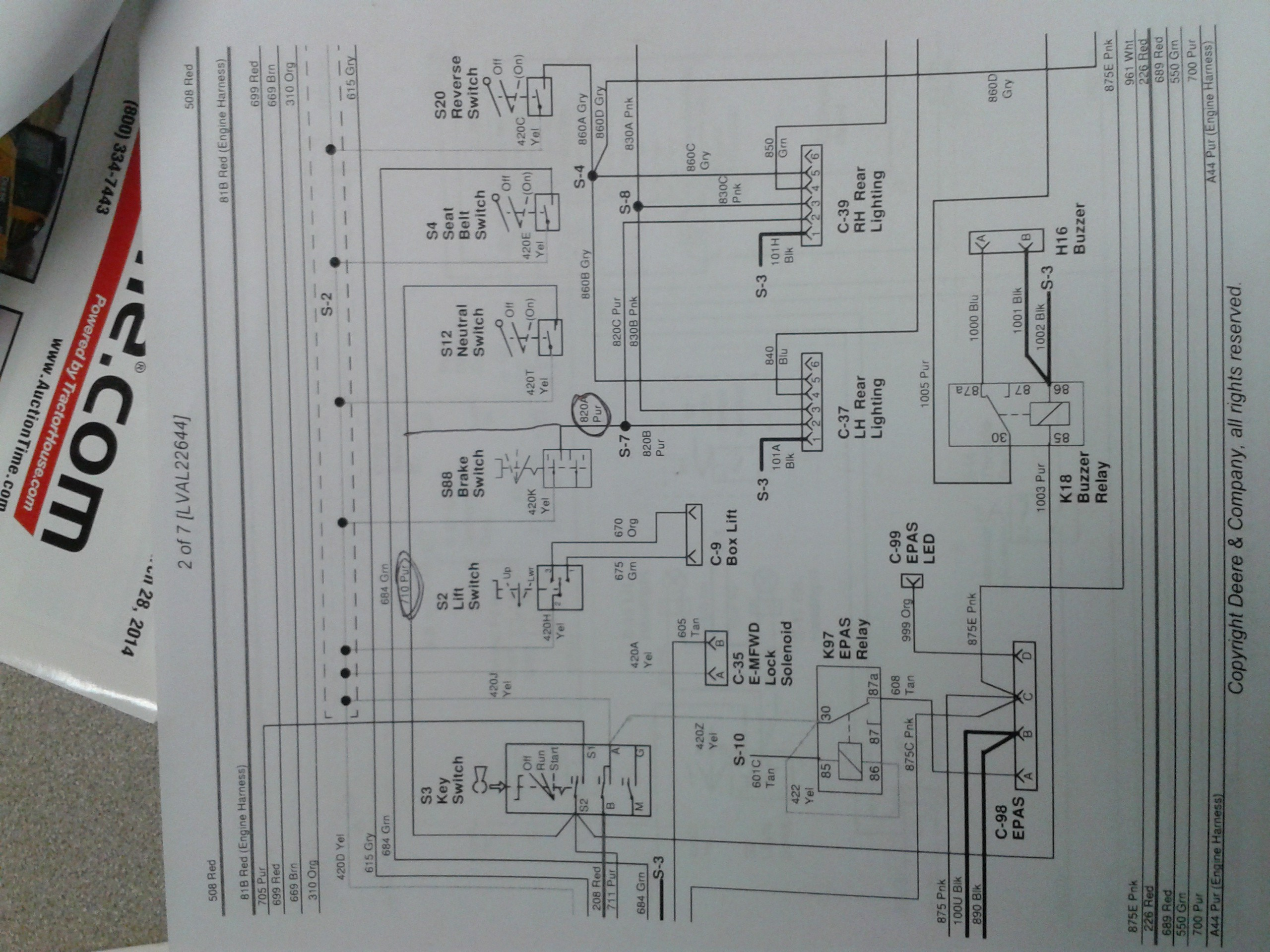 Wiring Diagram John Deere Lt155 Lt133 For 1968 210 Schematic Image