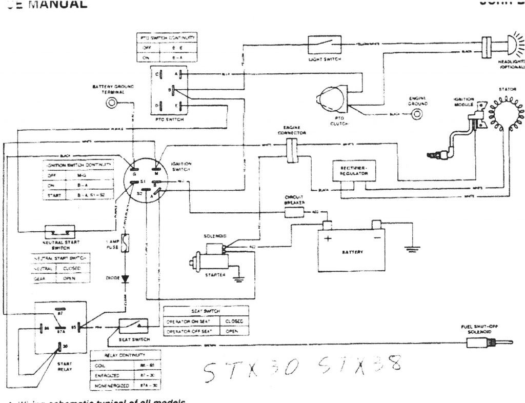 Size of Wiring Diagram Wiring Diagram John Deere Stx38 Black Deck Fresh Starter For